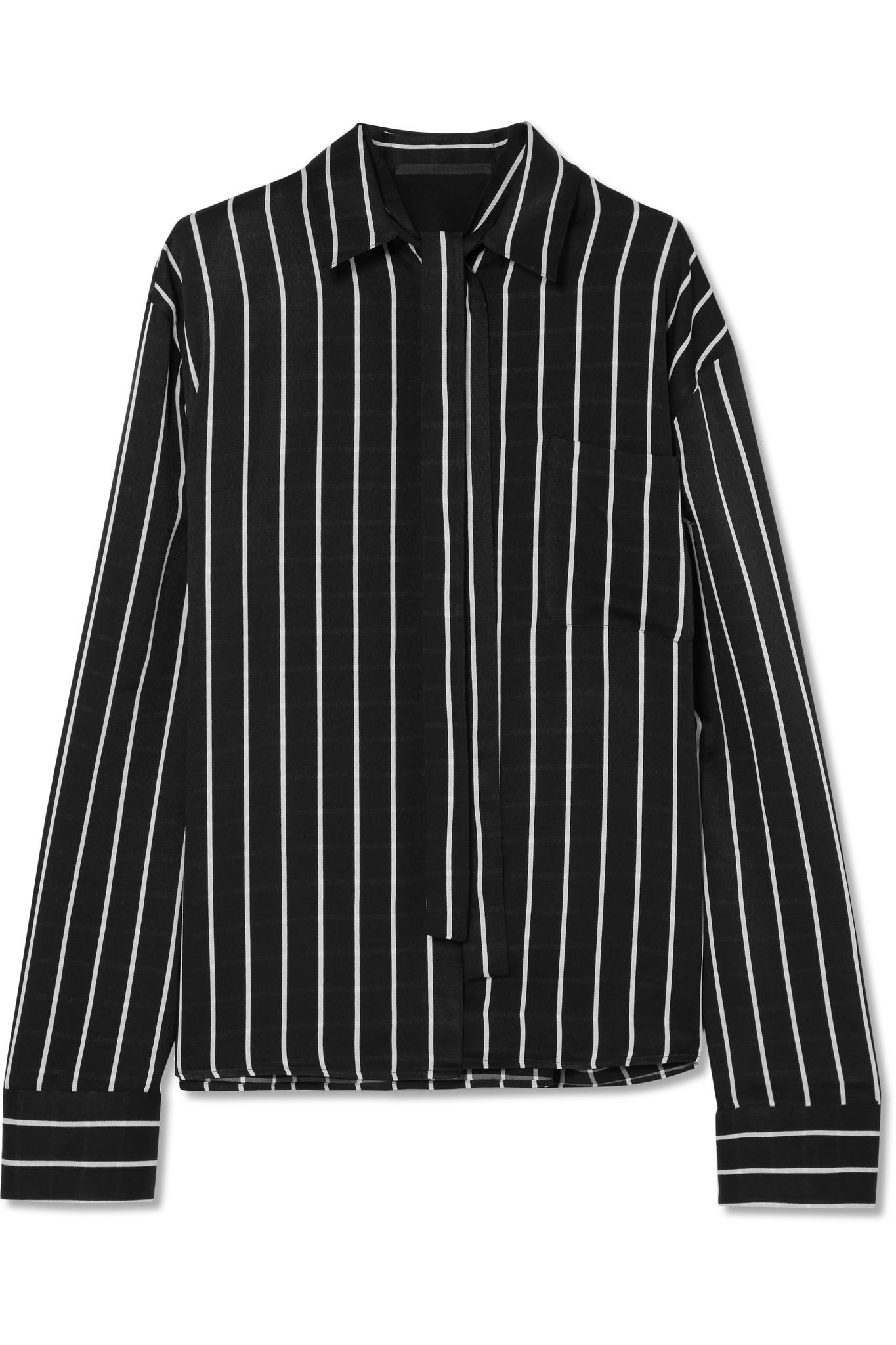 Striped satin shirt - Black Haider Ackermann Clearance Best Seller Cheap Sale Cost Looking For Discount Professional NeUX5m