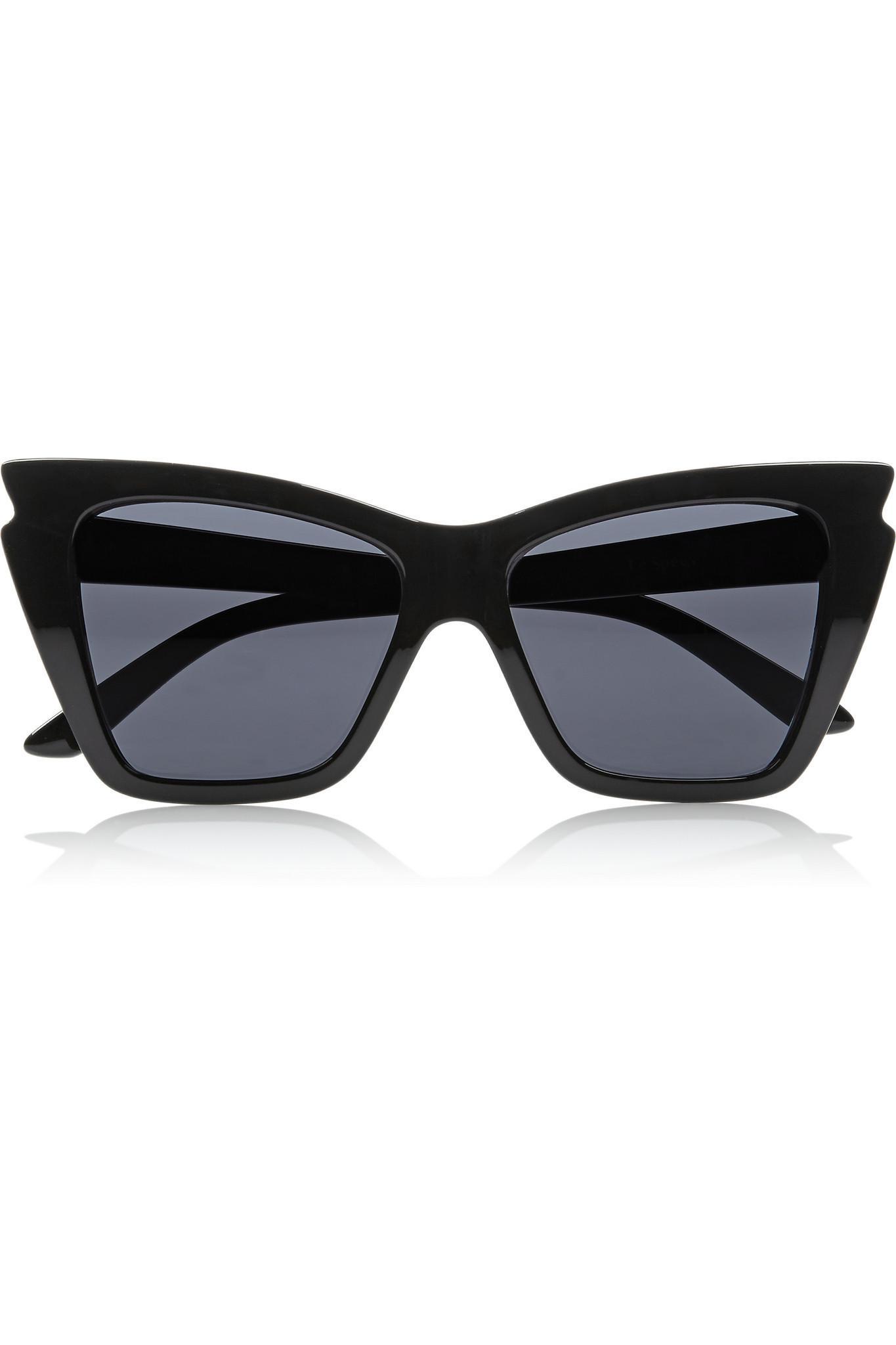 2bb4465cfa Lyst - Le Specs Rapture Cat-eye Acetate Sunglasses in Black - Save 8%