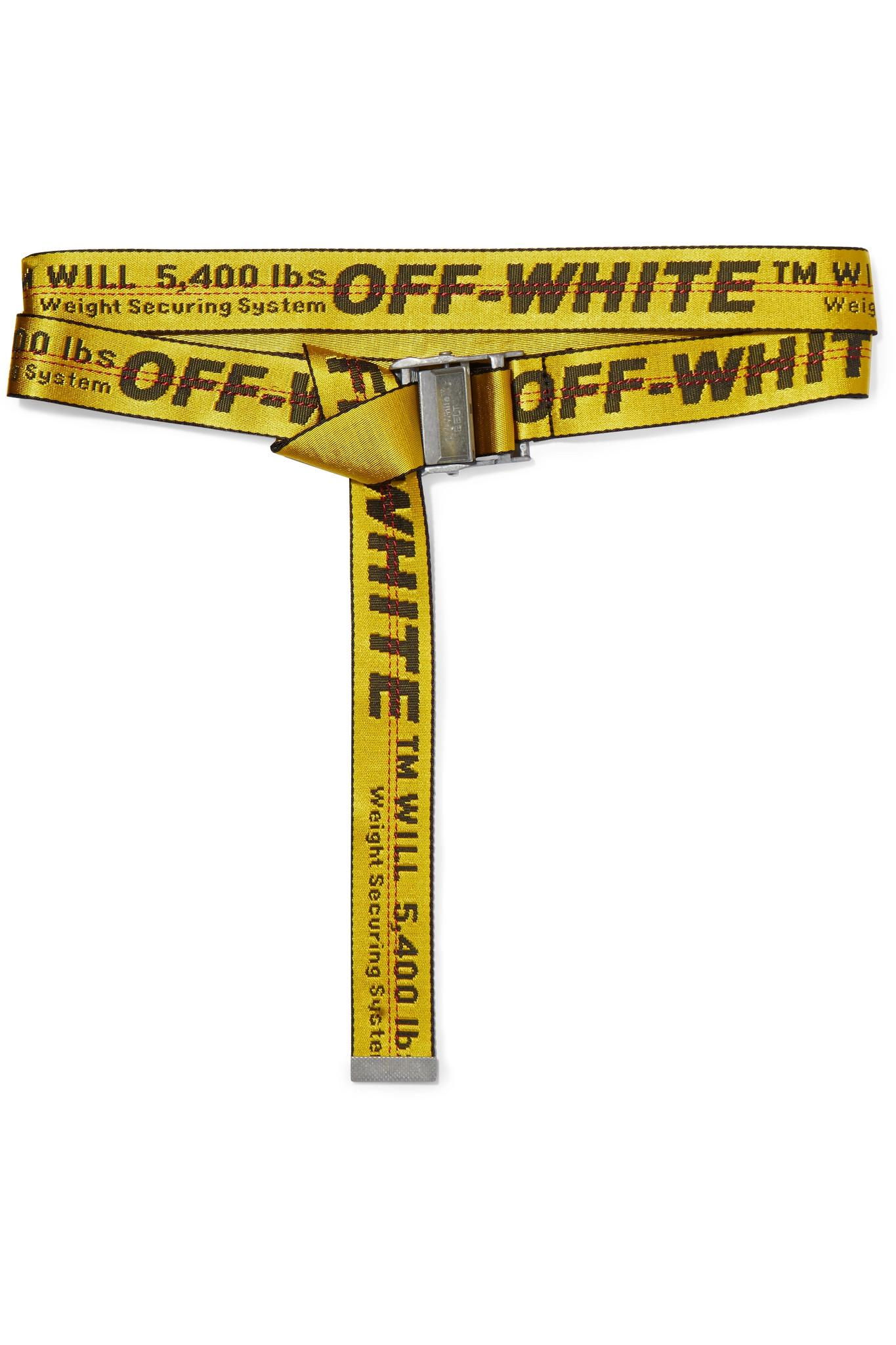 Lyst - Off-White c o Virgil Abloh Canvas-jacquard Belt in Yellow 667d5fa8ecc