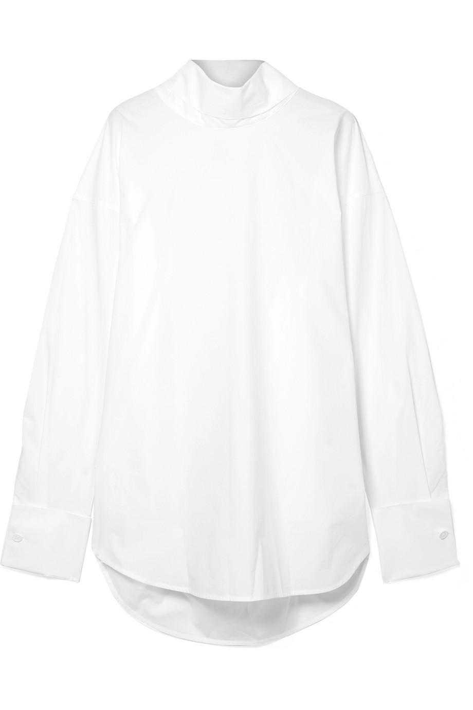 Mm6 By Maison Margiela Woman Wrap-effect Twill Top White Size M Maison Martin Margiela Cheap Pre Order Huge Range Of Free Shipping Cheap Price W7Xve2HVMD