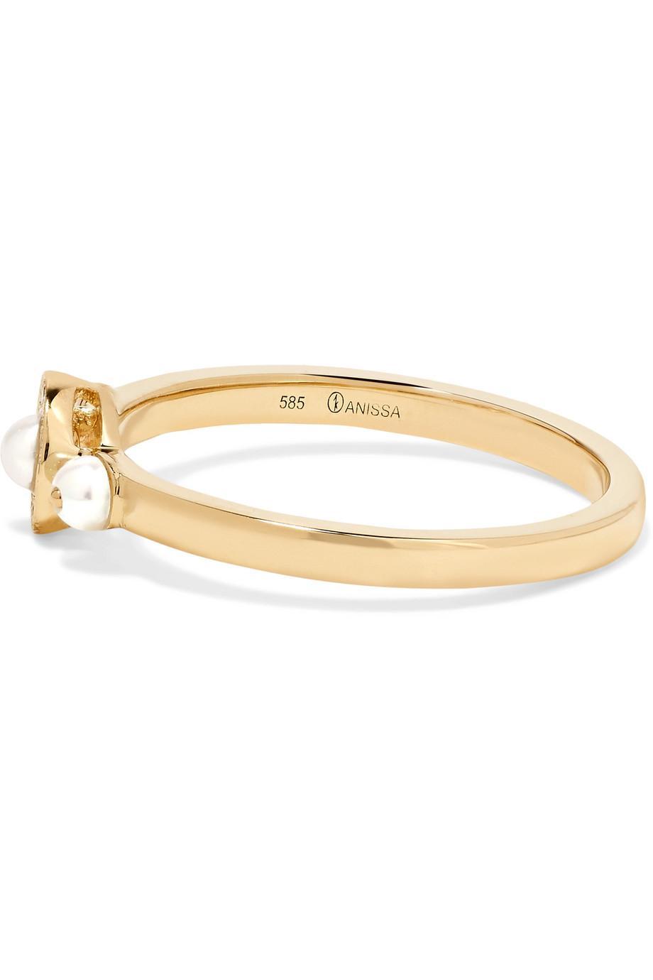 Anissa Kermiche Mignonne 14-karat Gold, Pearl And Diamond Ring