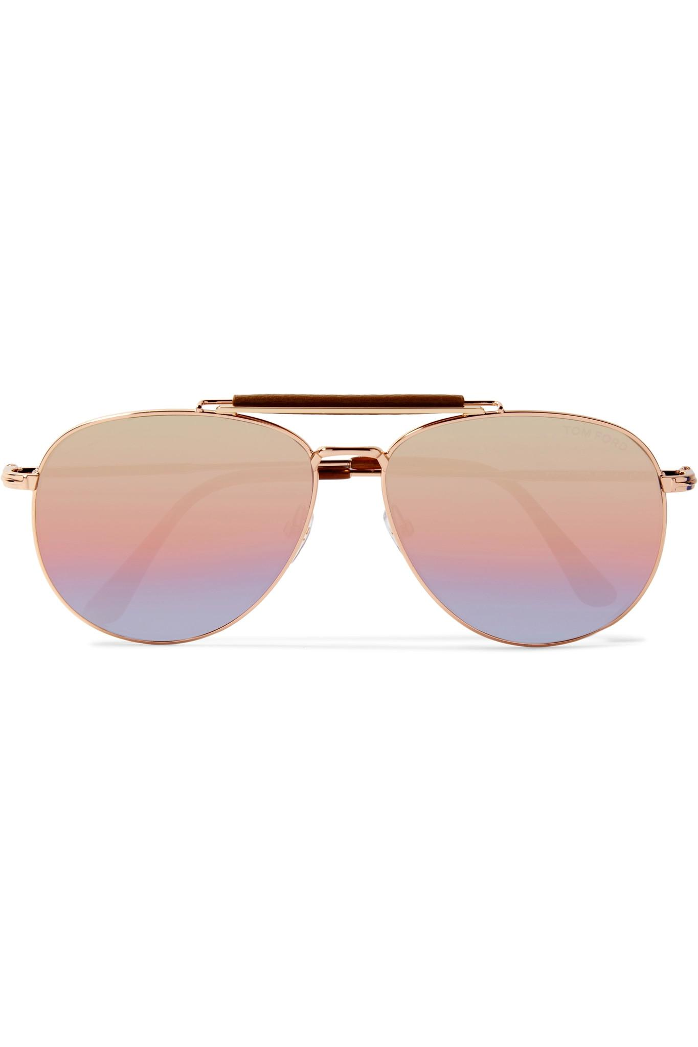 Sean Aviator-style Rose Gold-tone Mirrored Sunglasses - Pink Tom Ford DXASfbEDQw