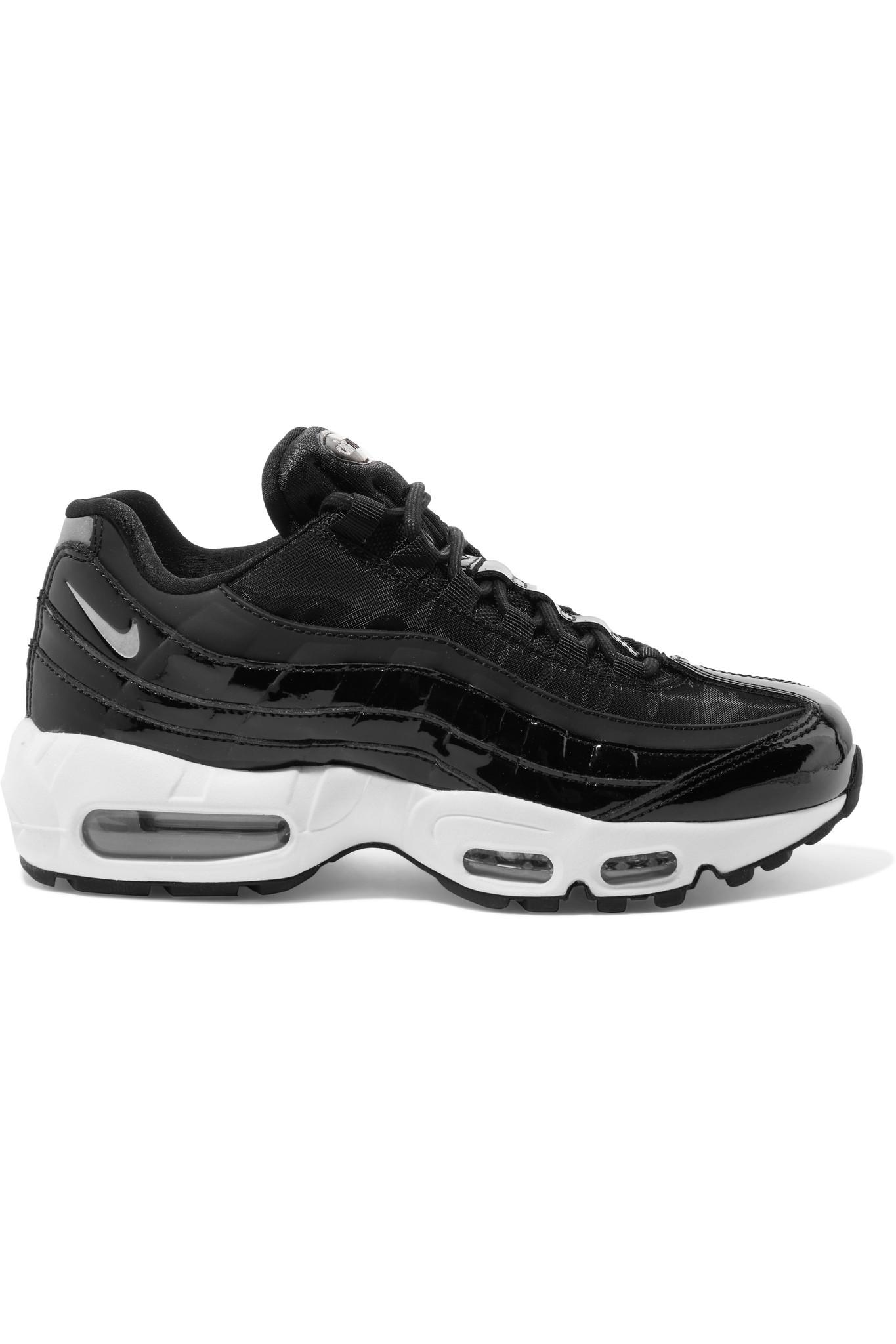 Women's Black Air Max 95 Mesh, Neoprene And Patent leather Trainers