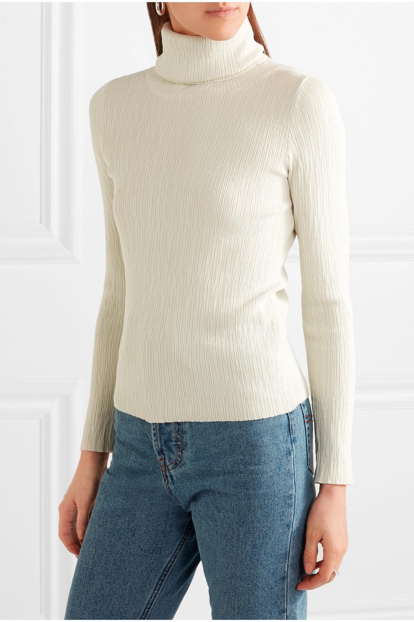86b33082882199 Simon Miller Berto Ribbed-knit Turtleneck Top - Lyst