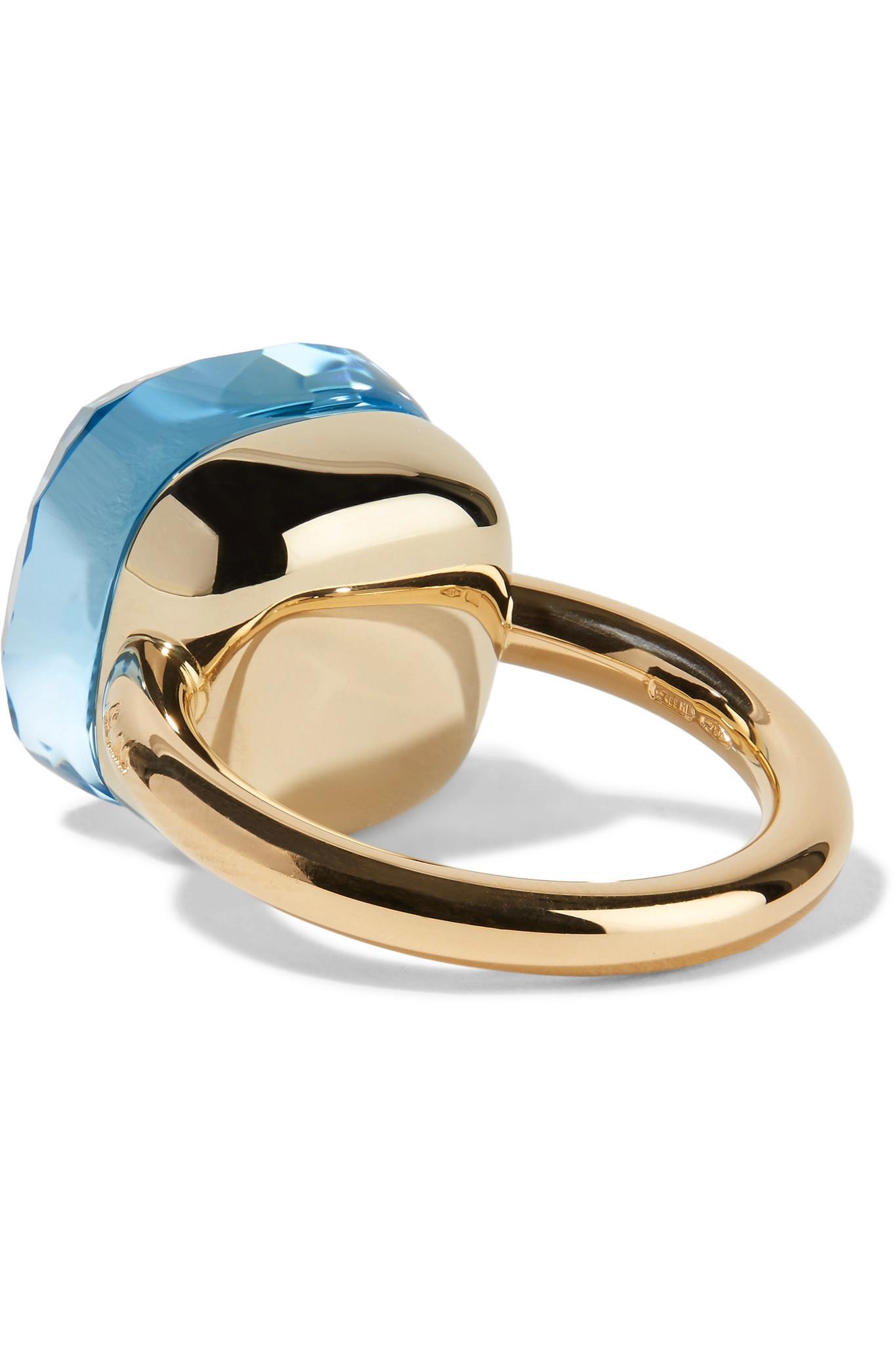 Pomellato Blue Topaz Diamond Nudo Ring | Betteridge