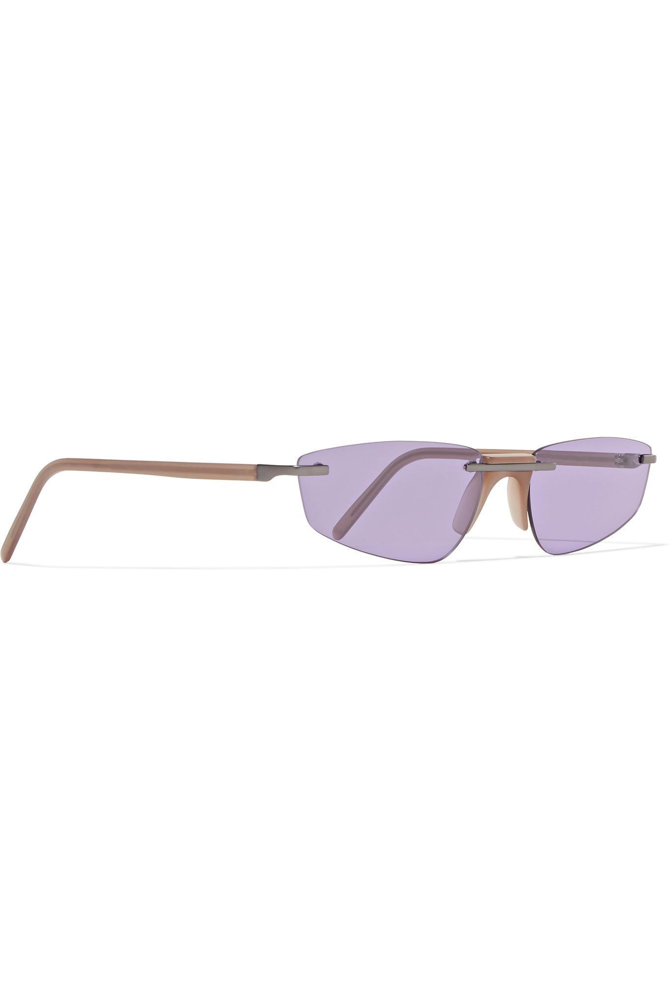 Andy Wolf Ophelia Cat-eye Acetate Sunglasses in Purple