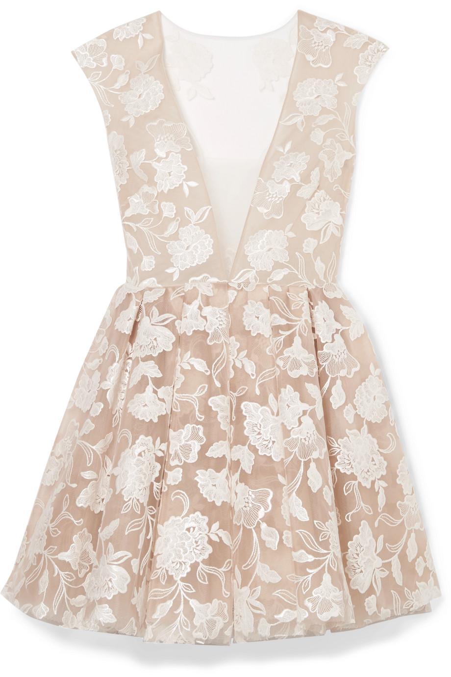 Rory Embroidered Tulle Mini Dress - White Rime Arodaky Jt5p8hxI
