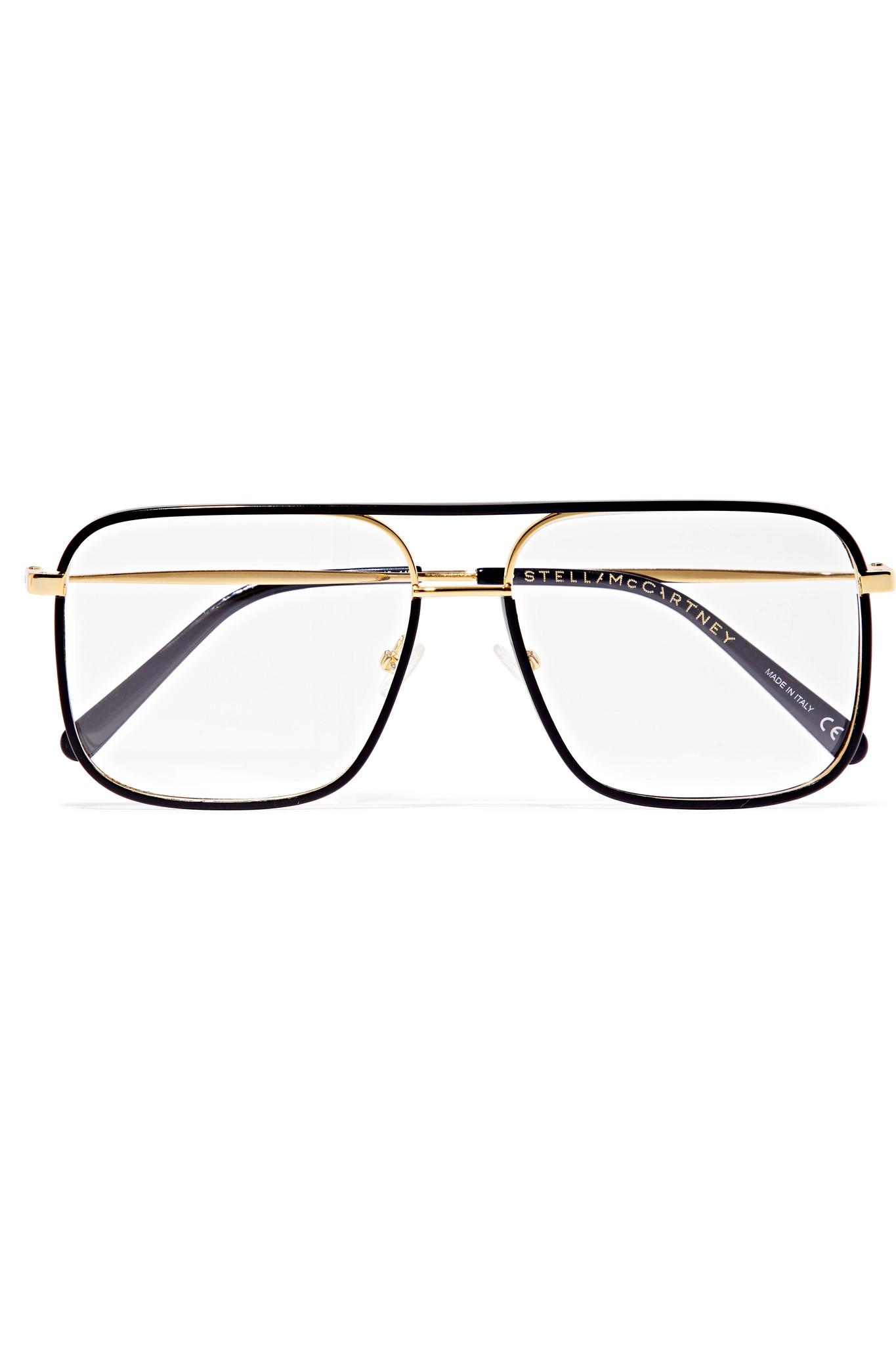 fb42a72cda55 Lyst - Stella McCartney D-frame Acetate And Gold-tone Optical ...