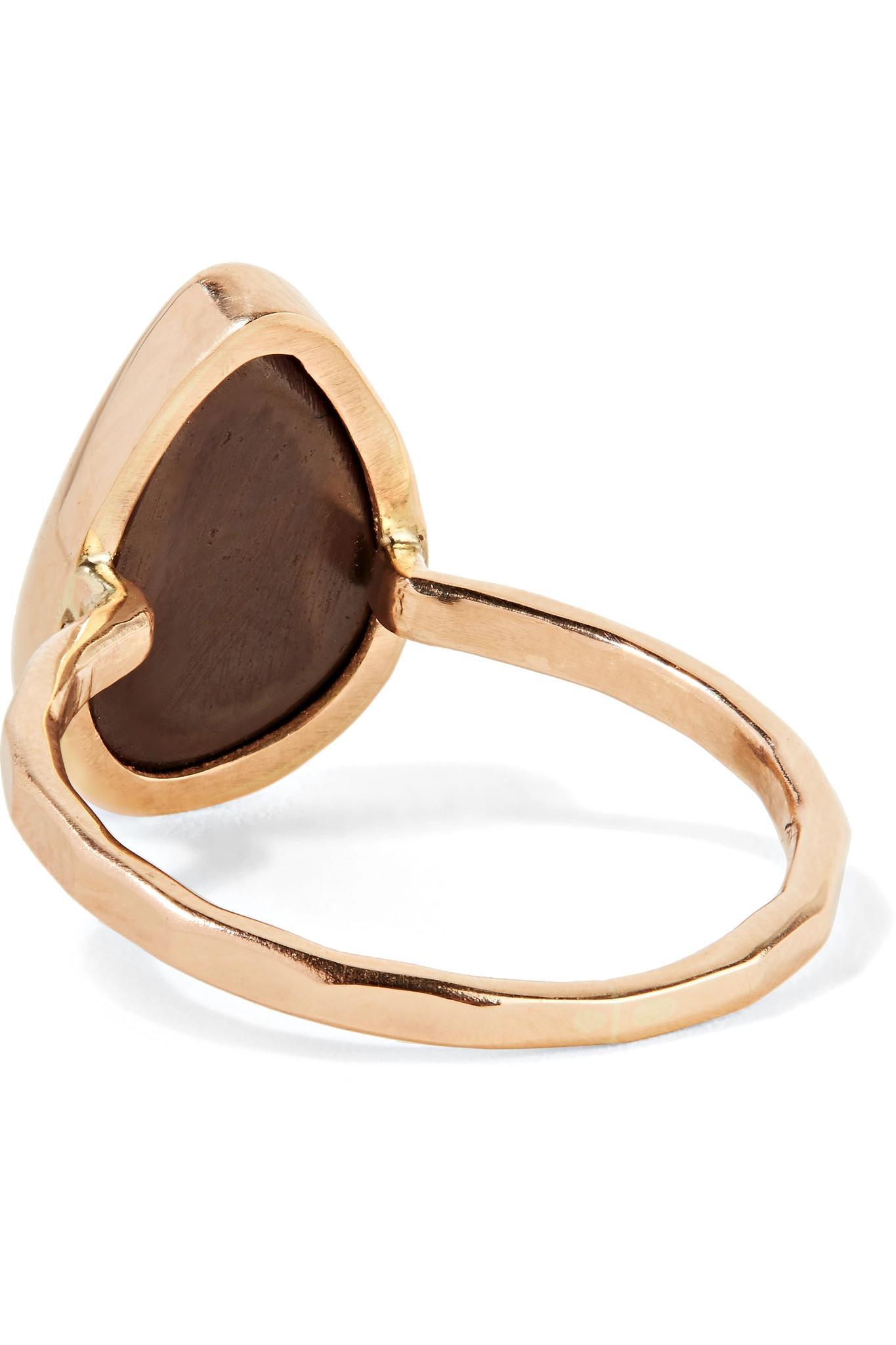 14-karat Gold, Quartz And Rhodochrosite Ring - 6 Melissa Joy Manning
