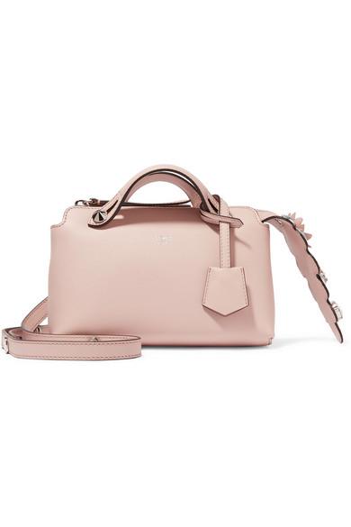 fendi by the way mini appliqu d leather shoulder bag in pink lyst. Black Bedroom Furniture Sets. Home Design Ideas