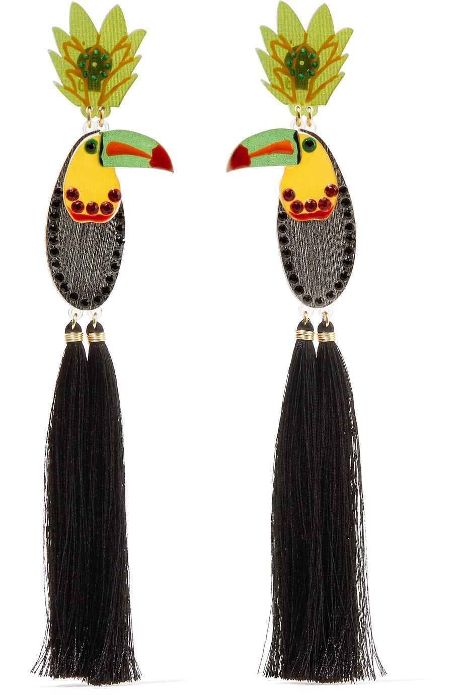 Kashi Ceniza Tasseled Raffia Earrings Mercedes Salazar CbcJzgJdH