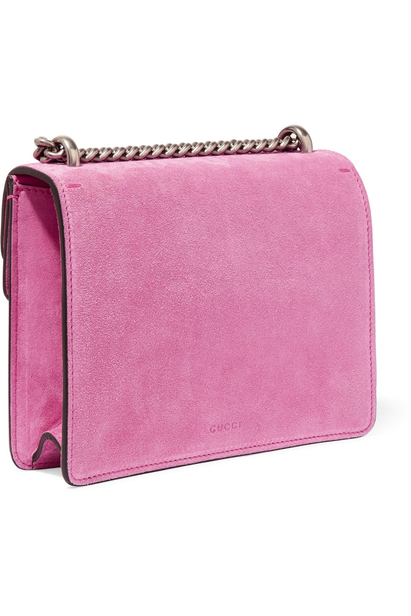 9e828c2bbb2a Gucci Dionysus Mini Suede Shoulder Bag in Pink - Lyst