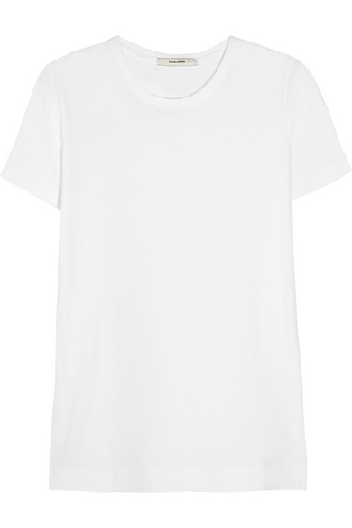 Lyst adam lippes pima cotton t shirt in white for Adam lippes t shirt