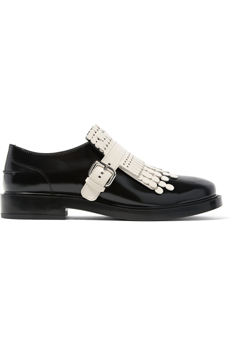 tod s fringed leather brogues in black lyst