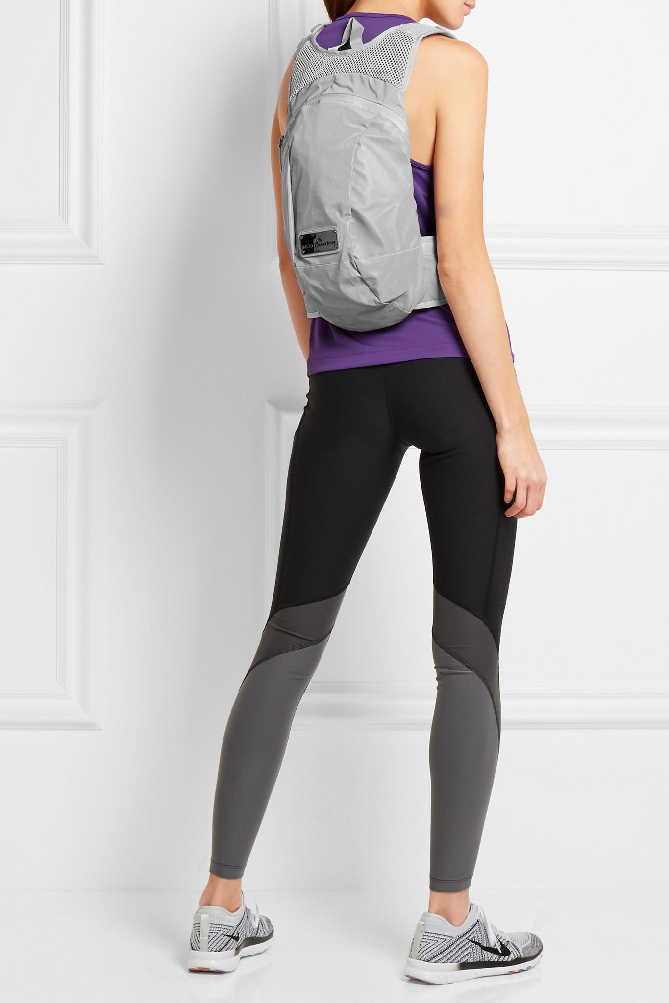 8da18ef027a8 Lyst - adidas By Stella McCartney Reflective Shell And Mesh Backpack ...
