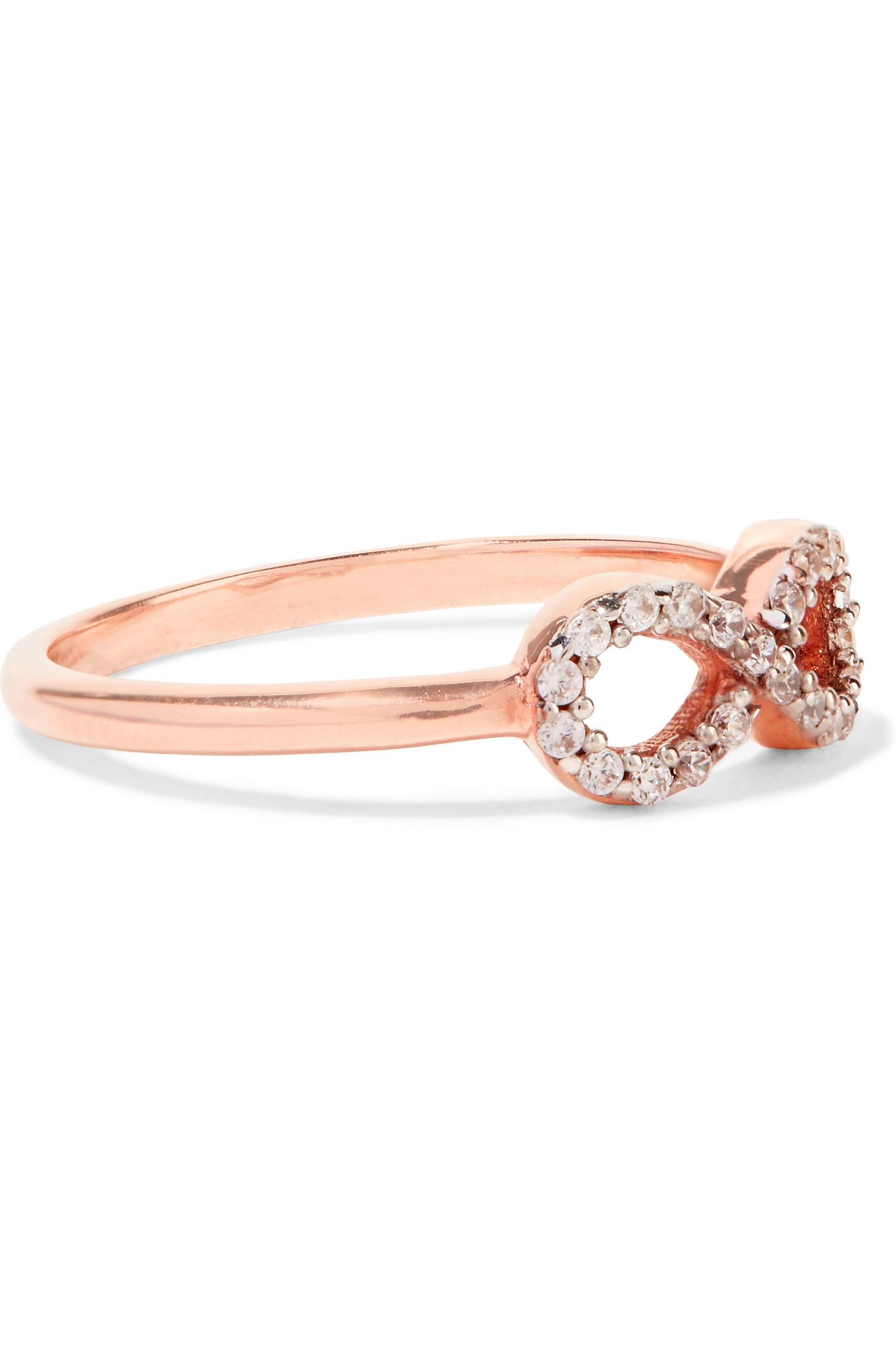 Aamaya By Priyanka Infinity Rose Gold-plated Topaz Ring in Pink