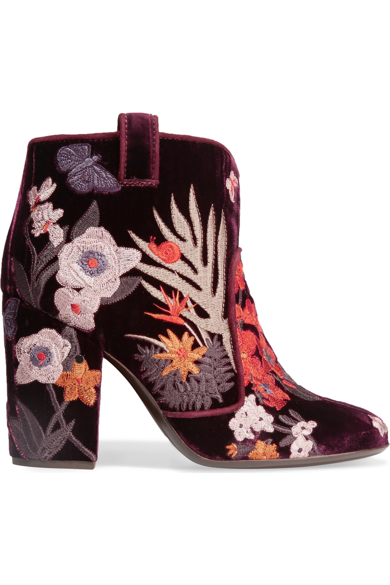 Laurence dacade Pete Embroidered Velvet Ankle Boots in ...