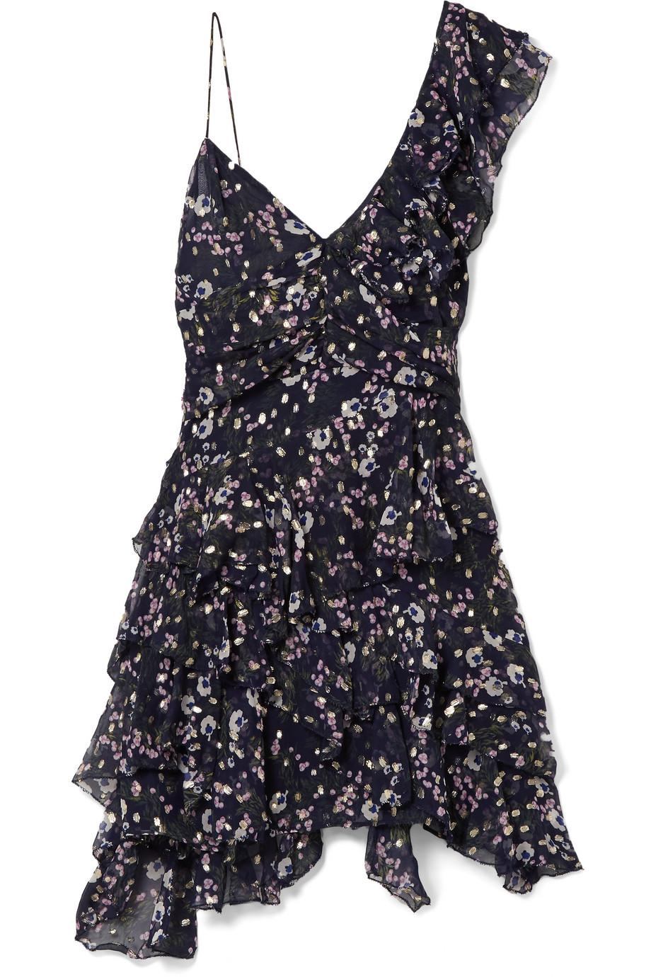 Silk Manda Floral Print Mini Dress - Blue Isabel Marant qptWHIG