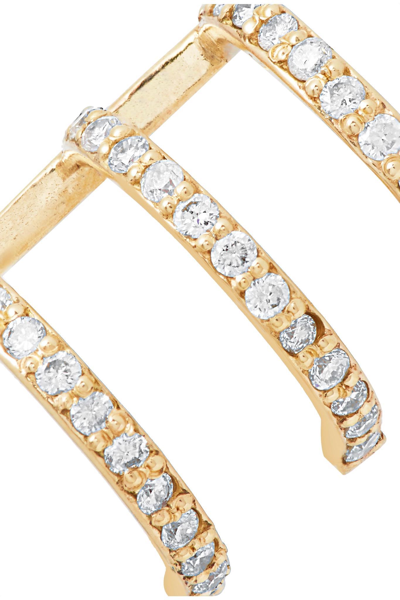 Beaufille Ringlet 10-karat Gold Diamond Earring U1FQnz5