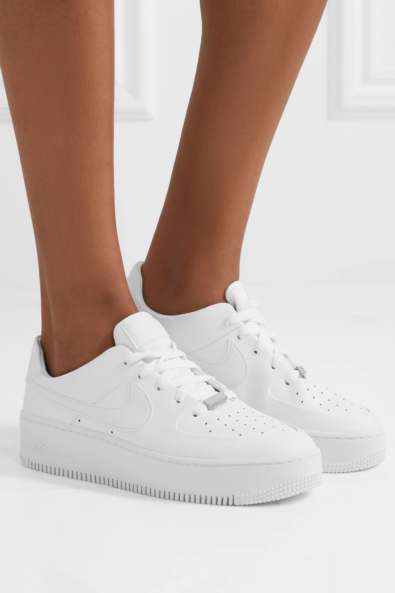 Air Force 1 Sage Textured Leather Sneakers