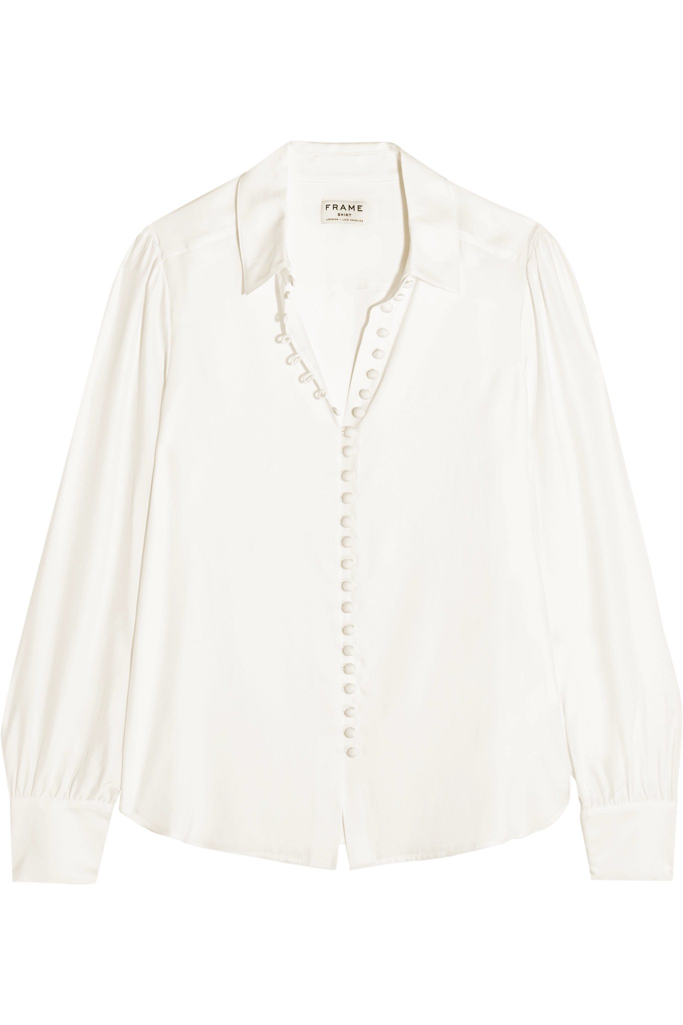 Lyst Frame Victorian Washed Silk Blouse In White