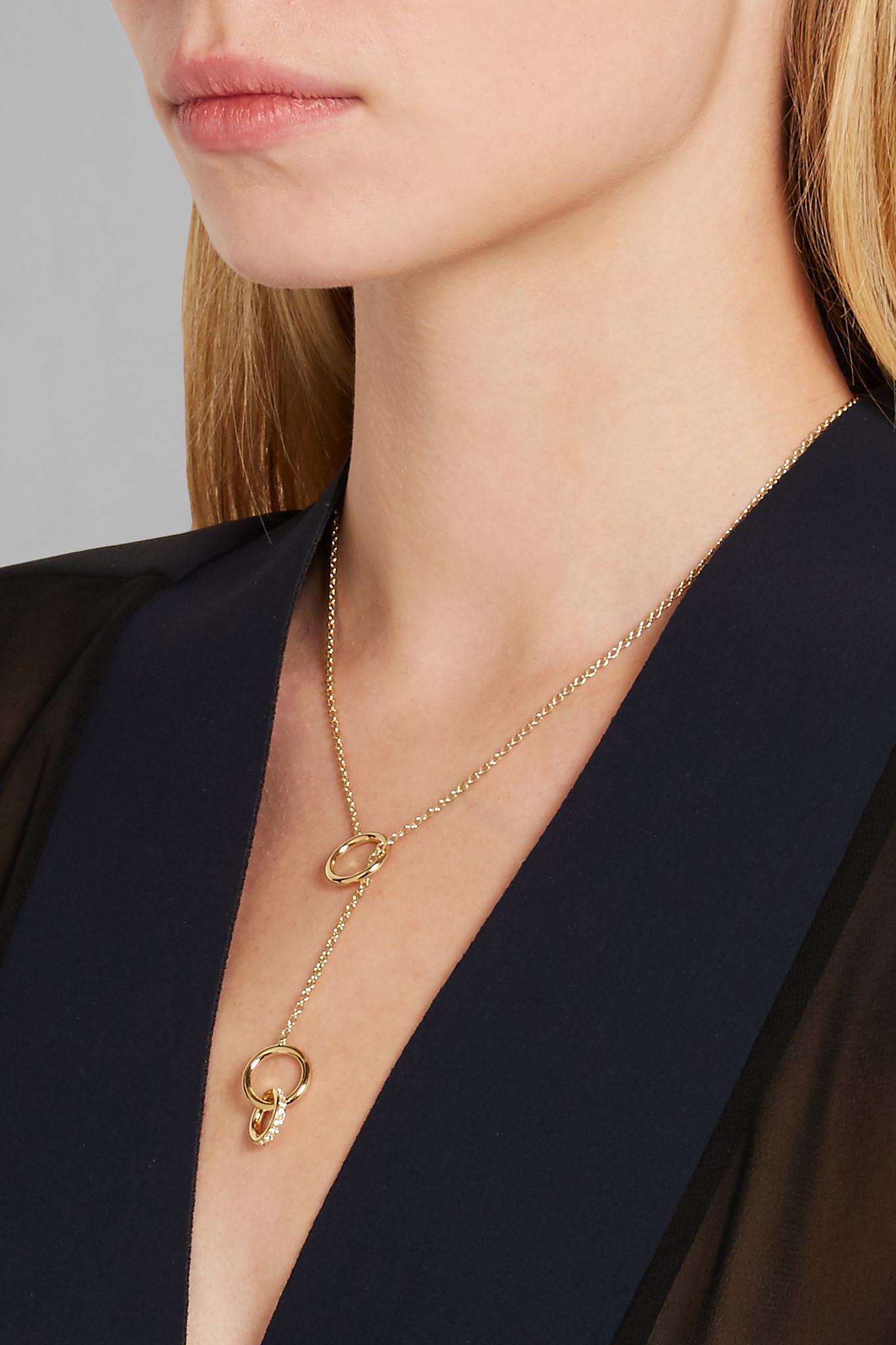 Elizabeth & James Neko Necklace in Metallic Gold 5I1yHKUx