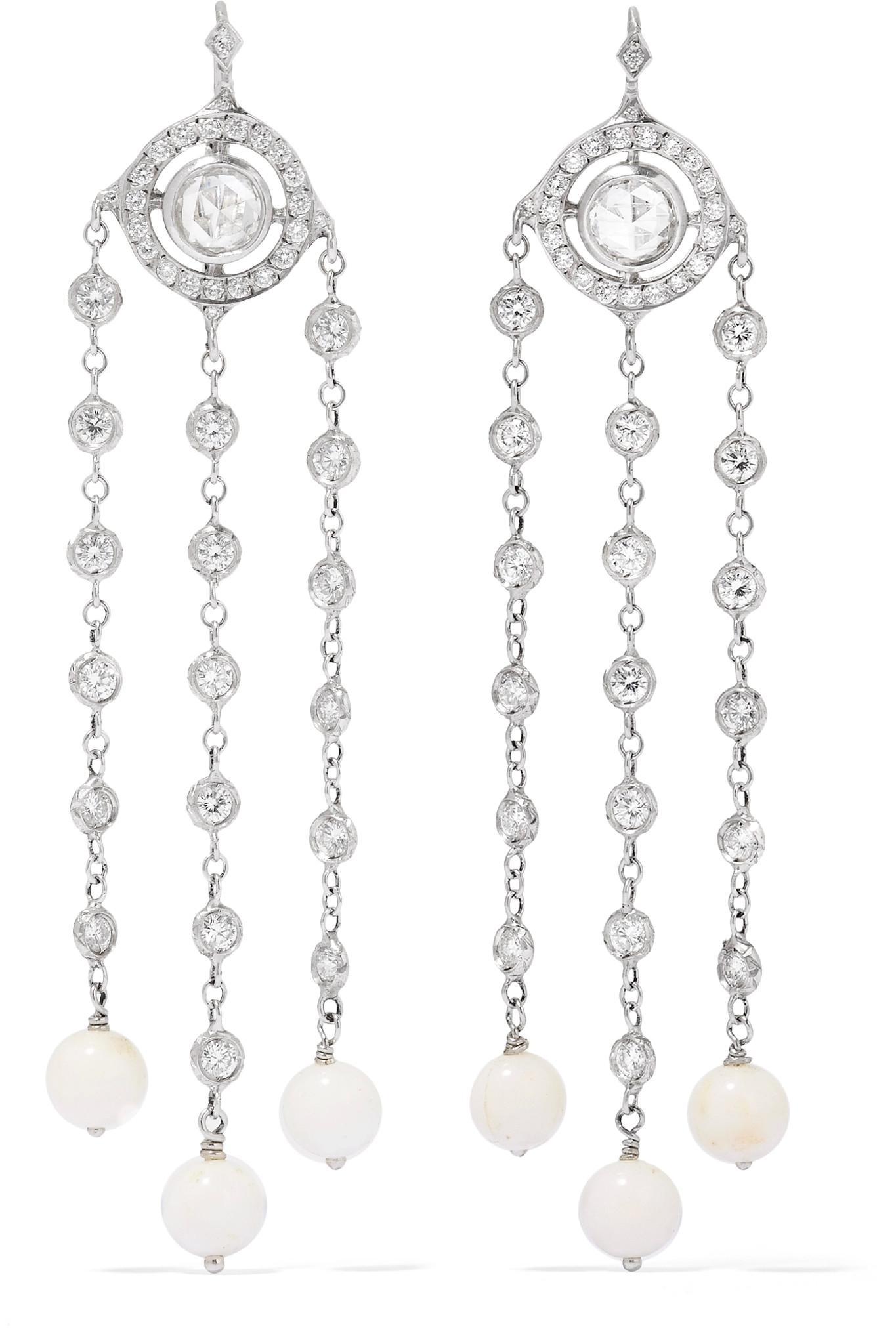 Loree Rodkin 18-karat White Gold Multi-stone Earrings gxgi7q0FwK