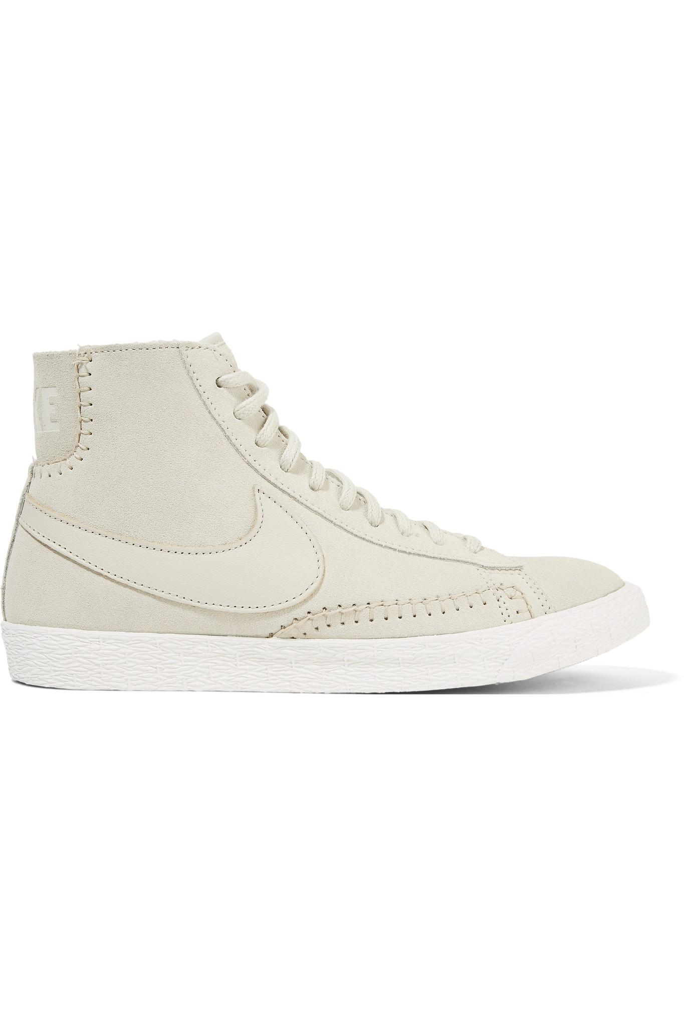 Lyst Nike Blazer Mid Ante And Sneakers Shearling High top Sneakers And in Blanco 68d6cd