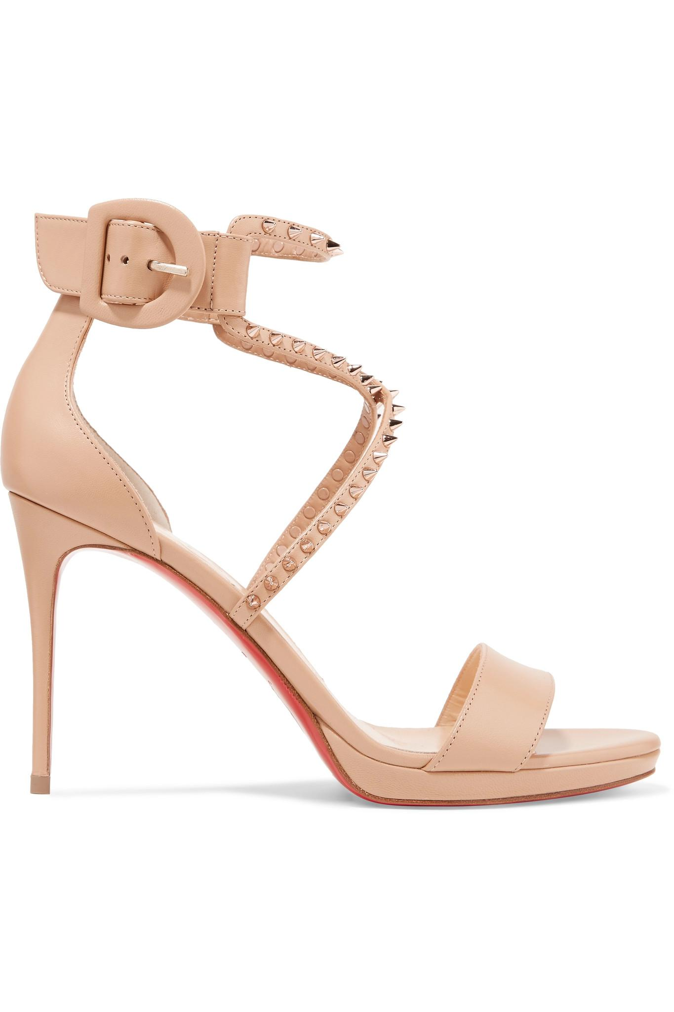 826803a1d04 Christian Louboutin. Women s Choca Lux 100 Studded Leather Sandals