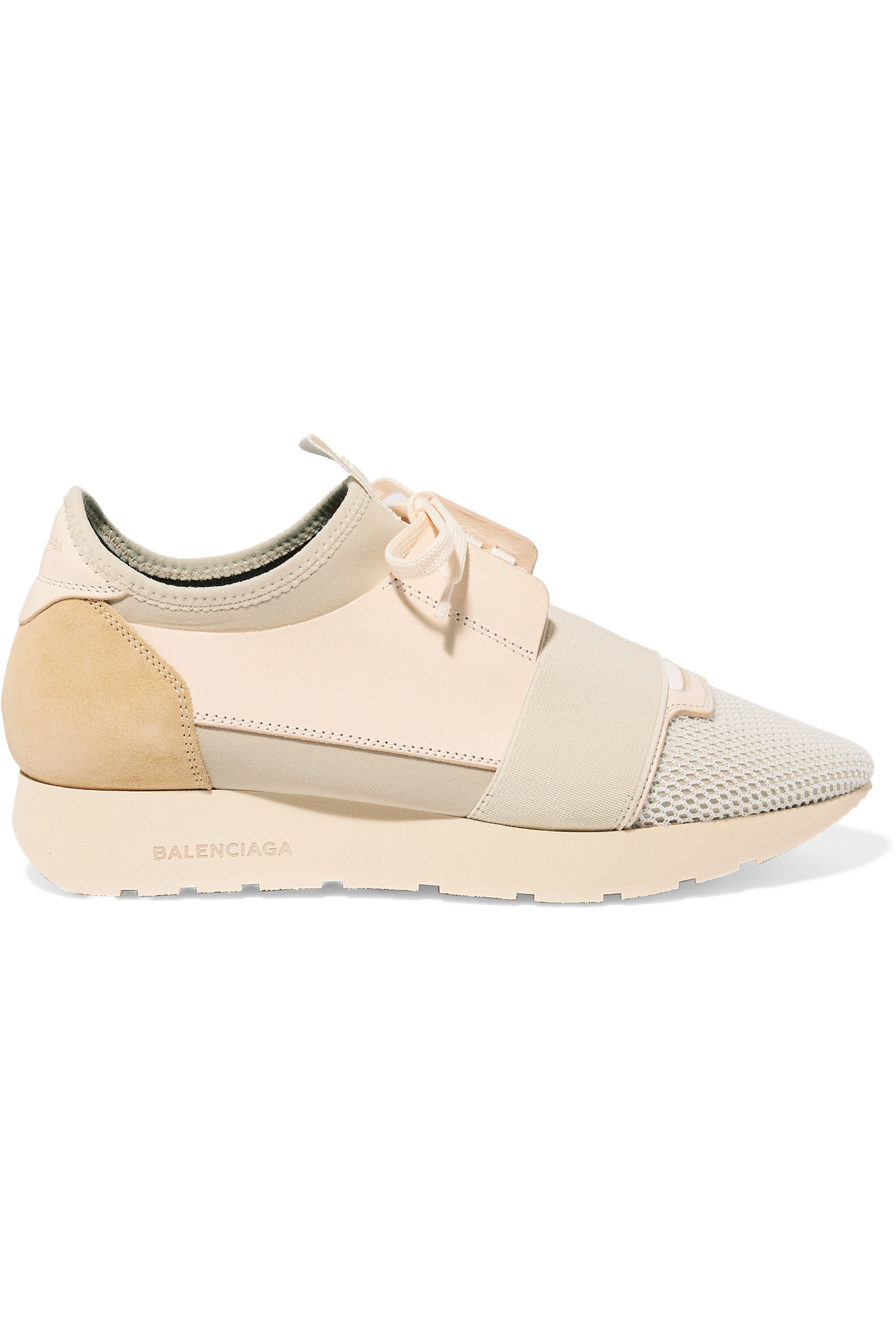 0c8748a0cfd Balenciaga Race Runner Leather, Mesh, Suede And Neoprene Sneakers in ...