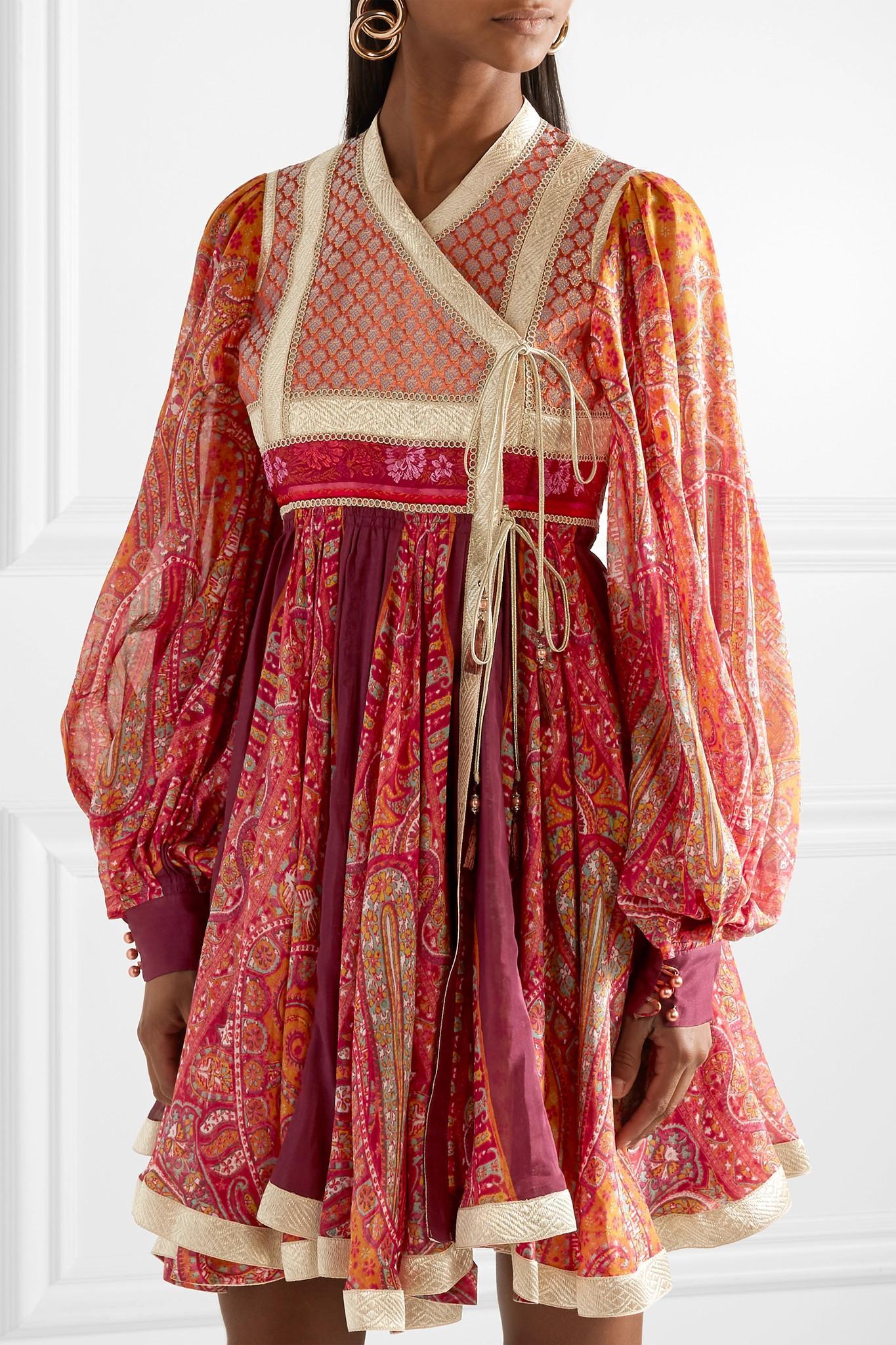 0135dfea4 etro-red-Paneled-Cotton-And-Silk-blend-Jacquard-And-Printed-Chiffon-Wrap-Dress.jpeg