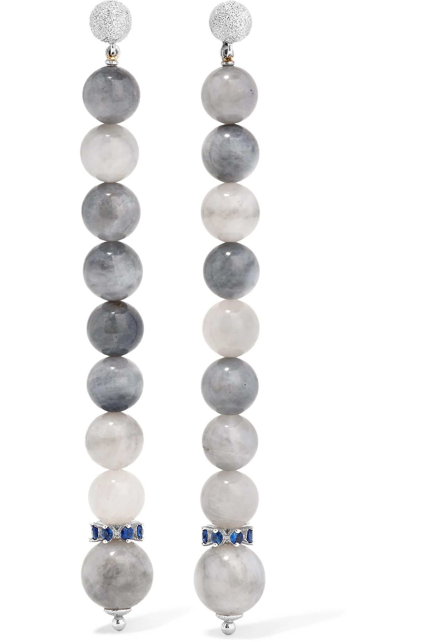 Carolina Bucci Recharmed 18-karat White Gold Amazonite Hoop Earrings 6mA4X2DCM