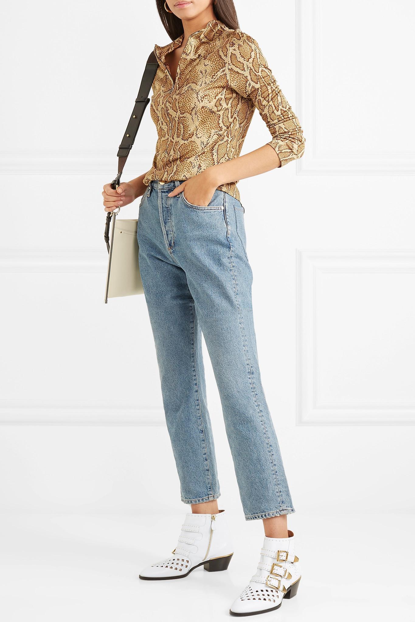Chloé Susanna Cutout Studded Leather