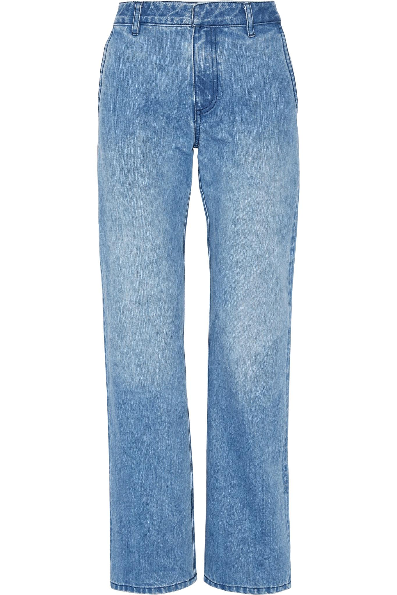 Tibi Denim Boyfriend Jeans in Light Denim (Blue)