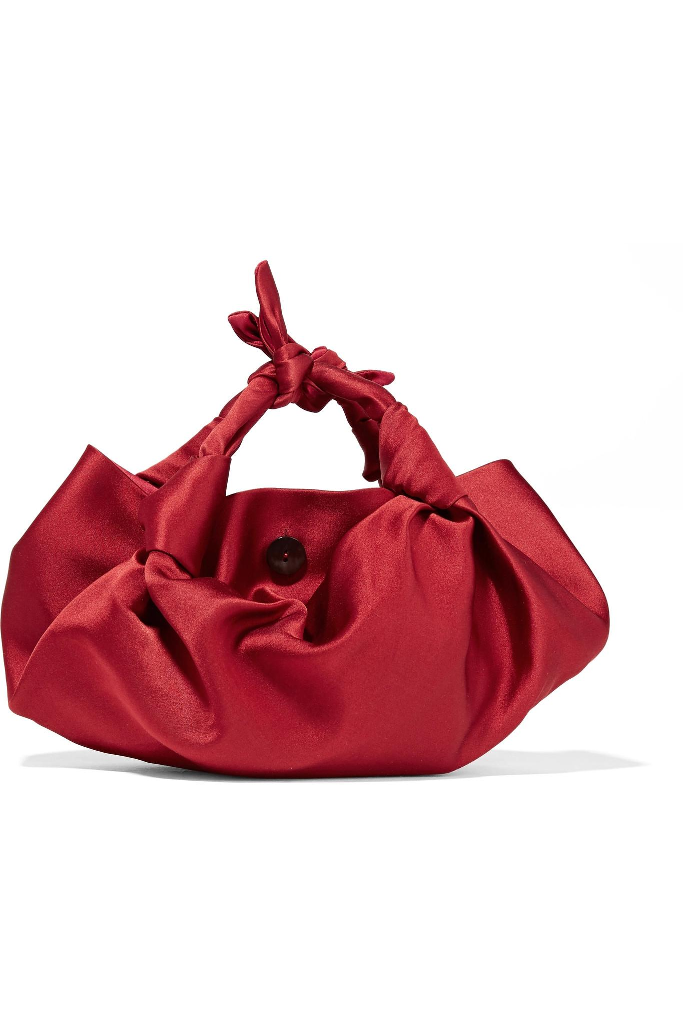 Lyst - The Row The Ascot Small Satin Hobo Bag in Red 9248bc8b3190e