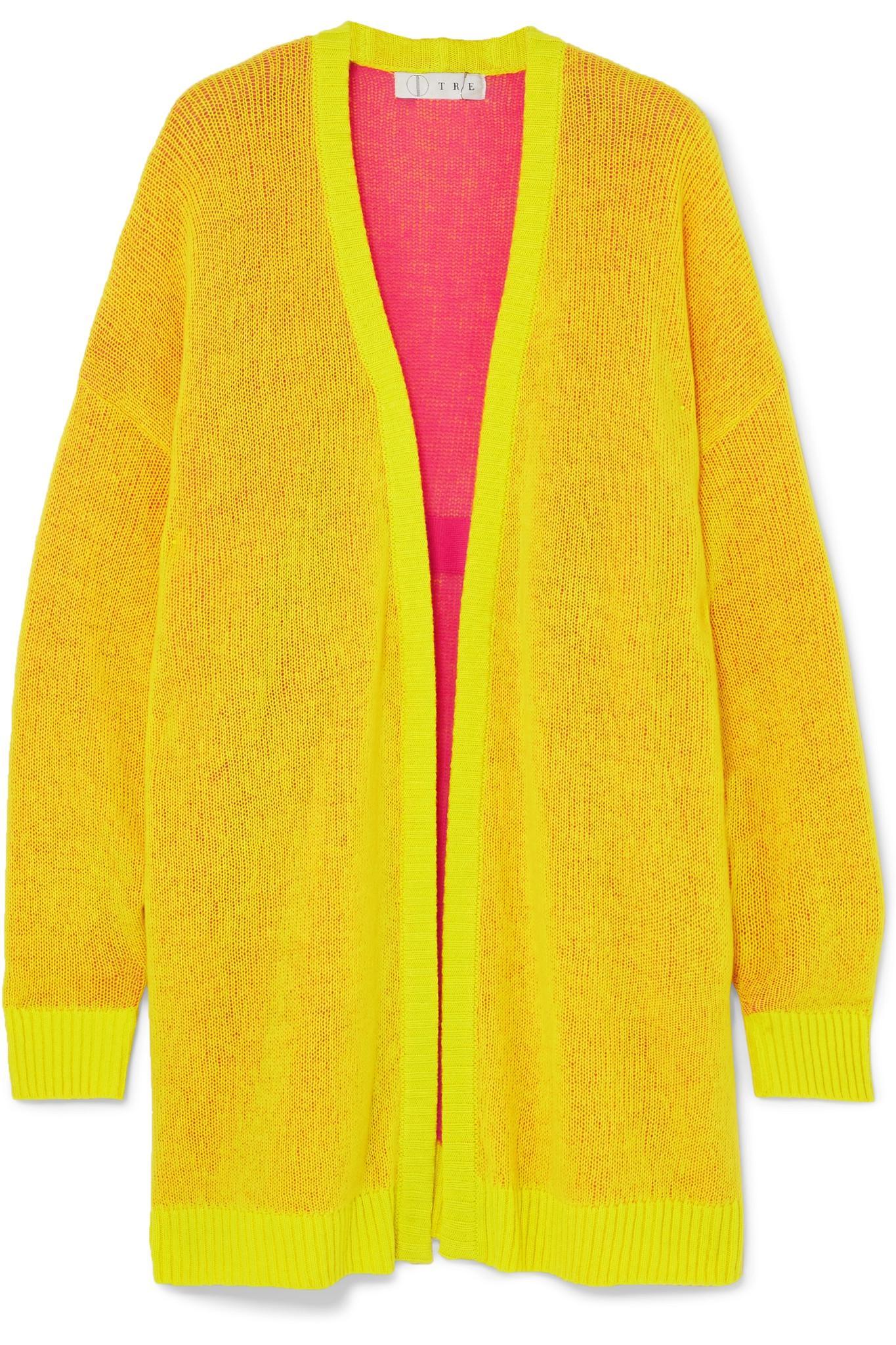 7387ab867d Tre by Natalie Ratabesi. Women s Yellow Miki Oversized Cashmere Cardigan