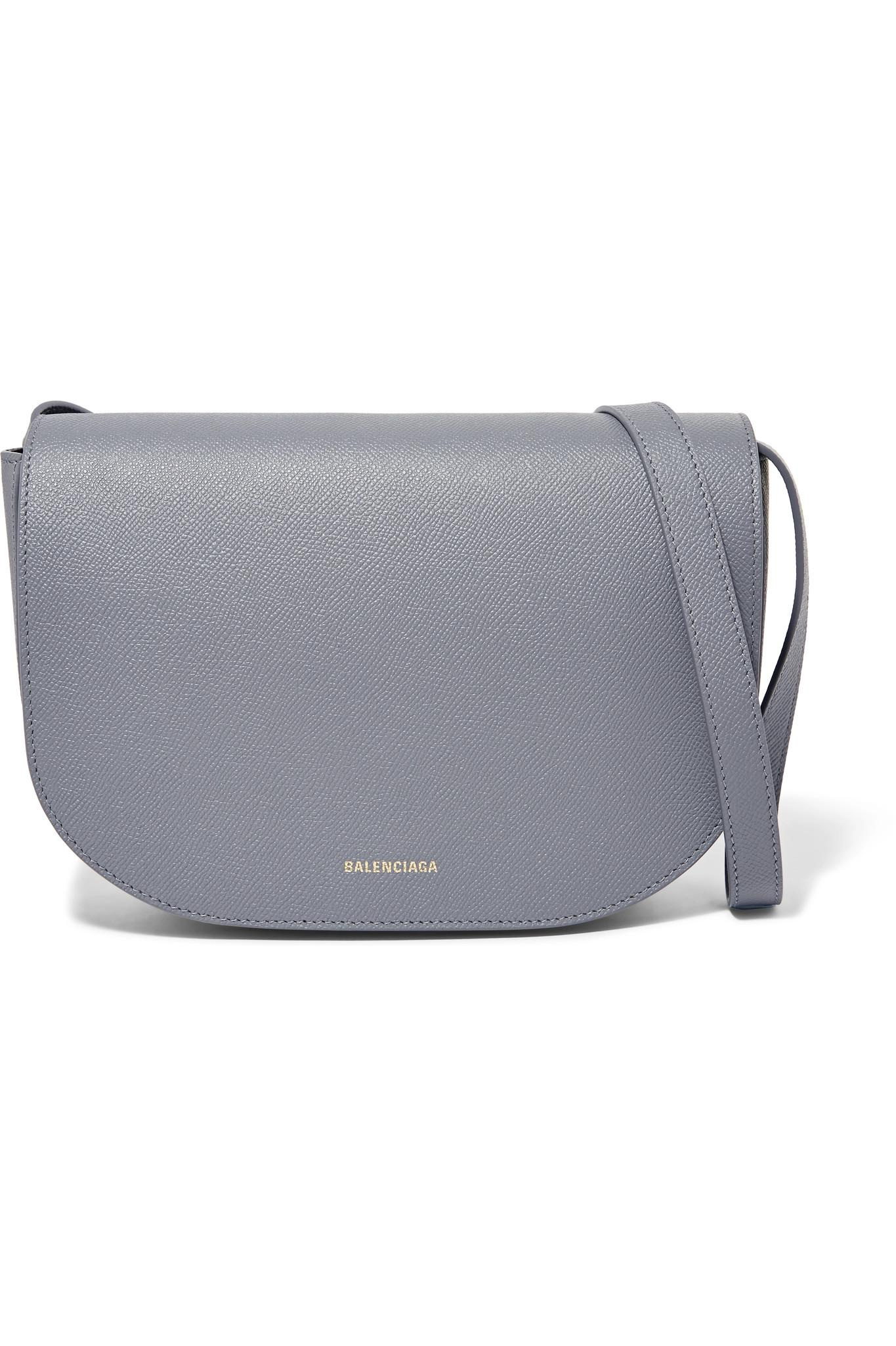 297ddc7c9e Balenciaga Ville S Aj Printed Textured-leather Shoulder Bag in Gray ...