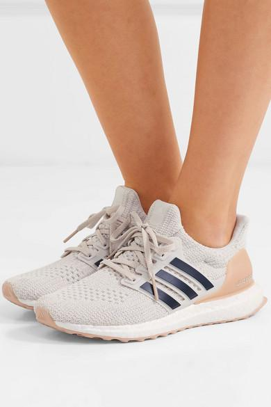 adidas Originals Ultraboost Rubber-trimmed Primeknit Sneakers in White