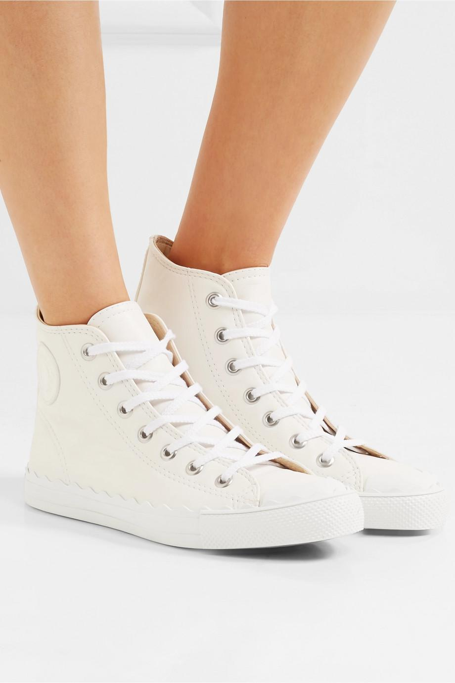 Chloé White Kyle Leather High-top Sneakers
