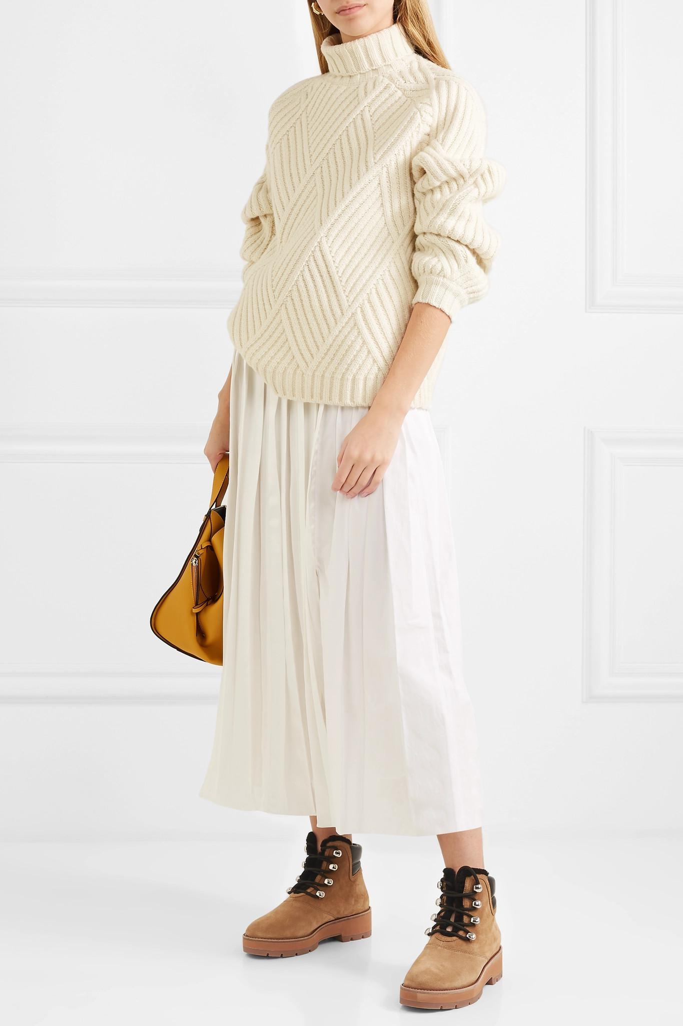 7e4a586baa66f 3.1 Phillip Lim - Brown Dylan Shearling-lined Suede And Leather Ankle Boots  - Lyst. View fullscreen