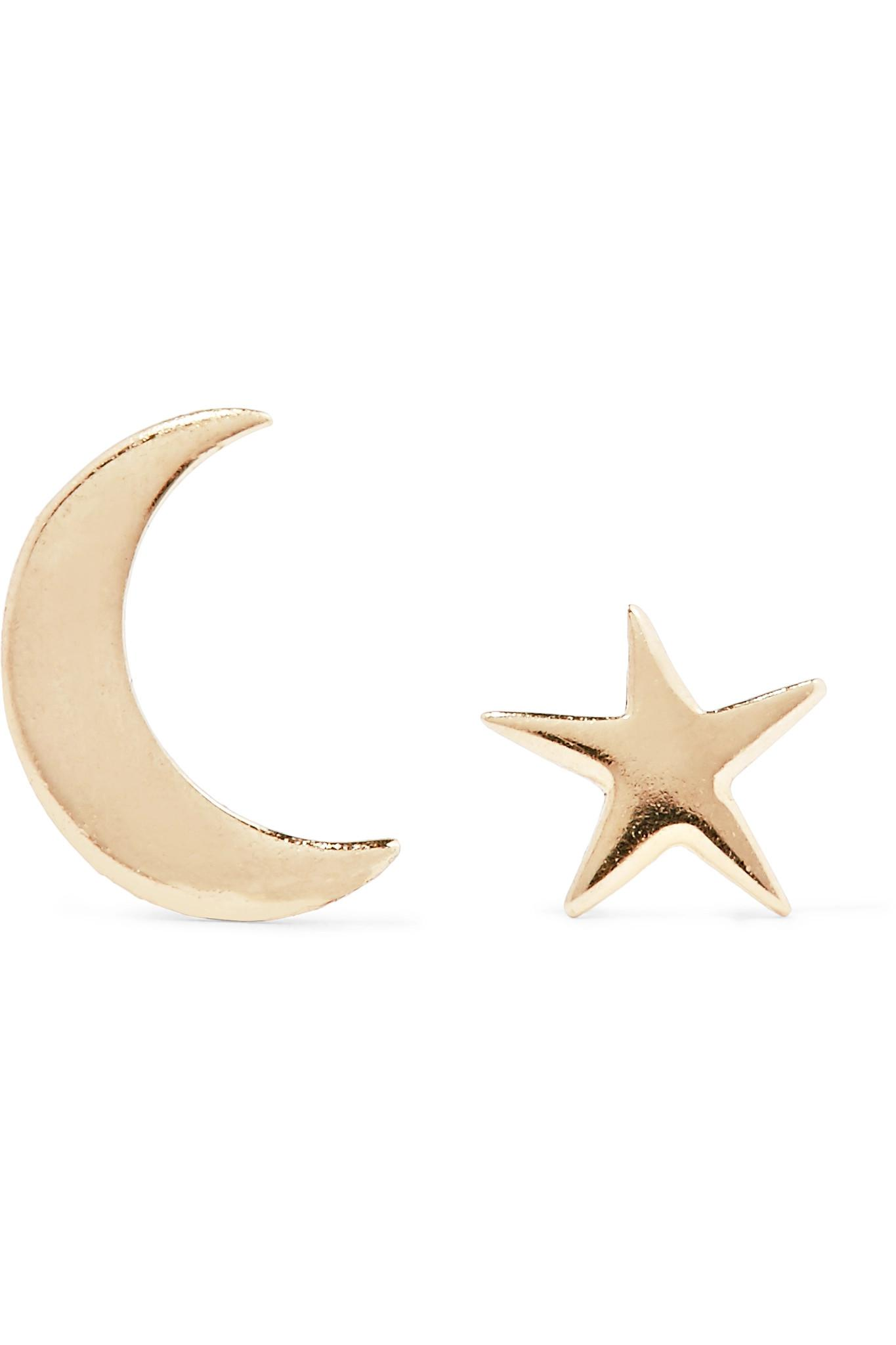 Catbird Women S Metallic Tiny Dancer 14 Karat Gold Earrings