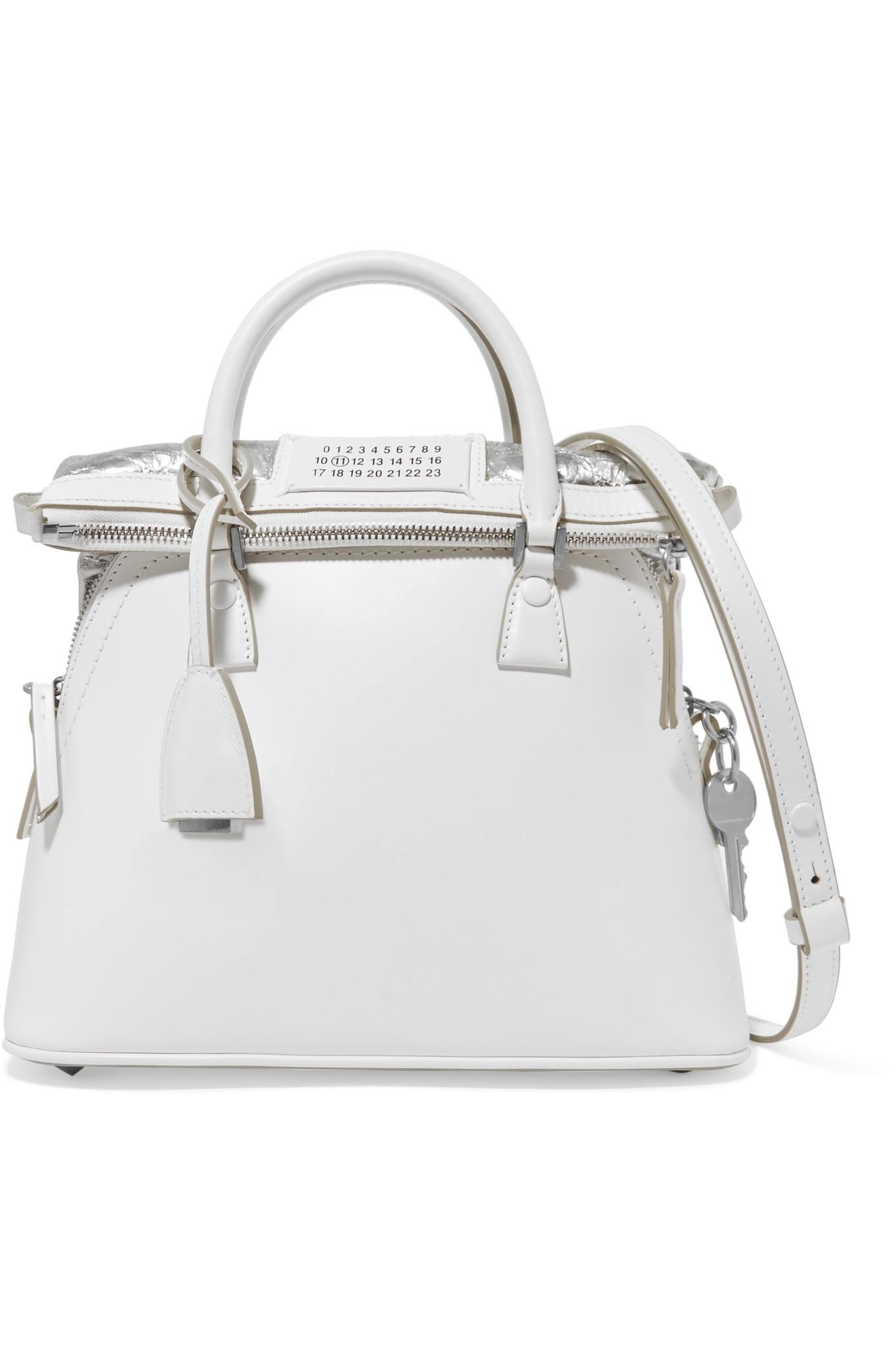 Baby Margiela Tote Leather White Maison Lyst In 5ac hsdtCBxQr
