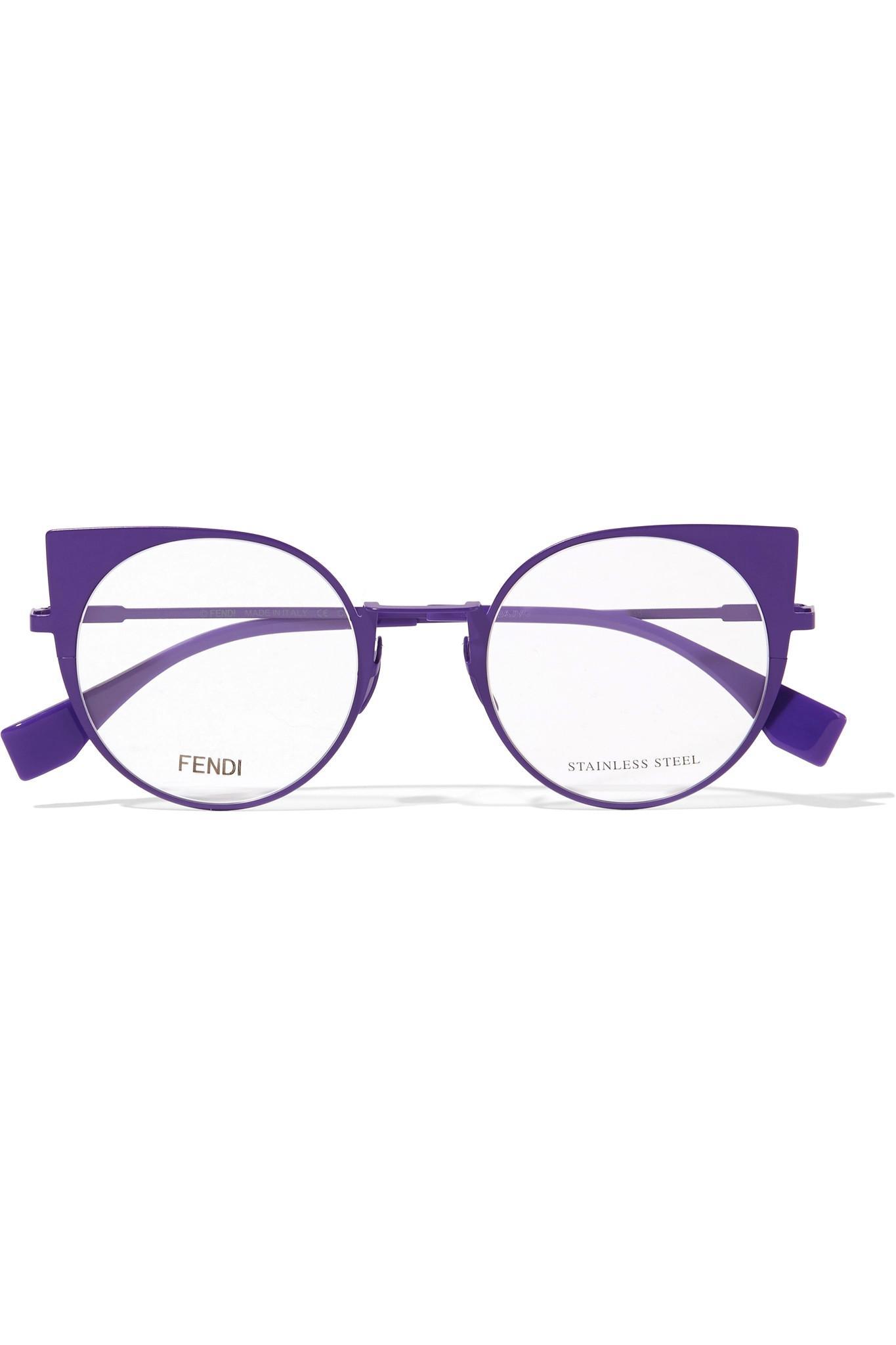 610ab3291338f Fendi Cat-eye Metal Optical Glasses in Purple