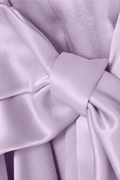 Siwa Coloris Portefeuille Purple Satin Robe En Nanushka gfvbY6y7