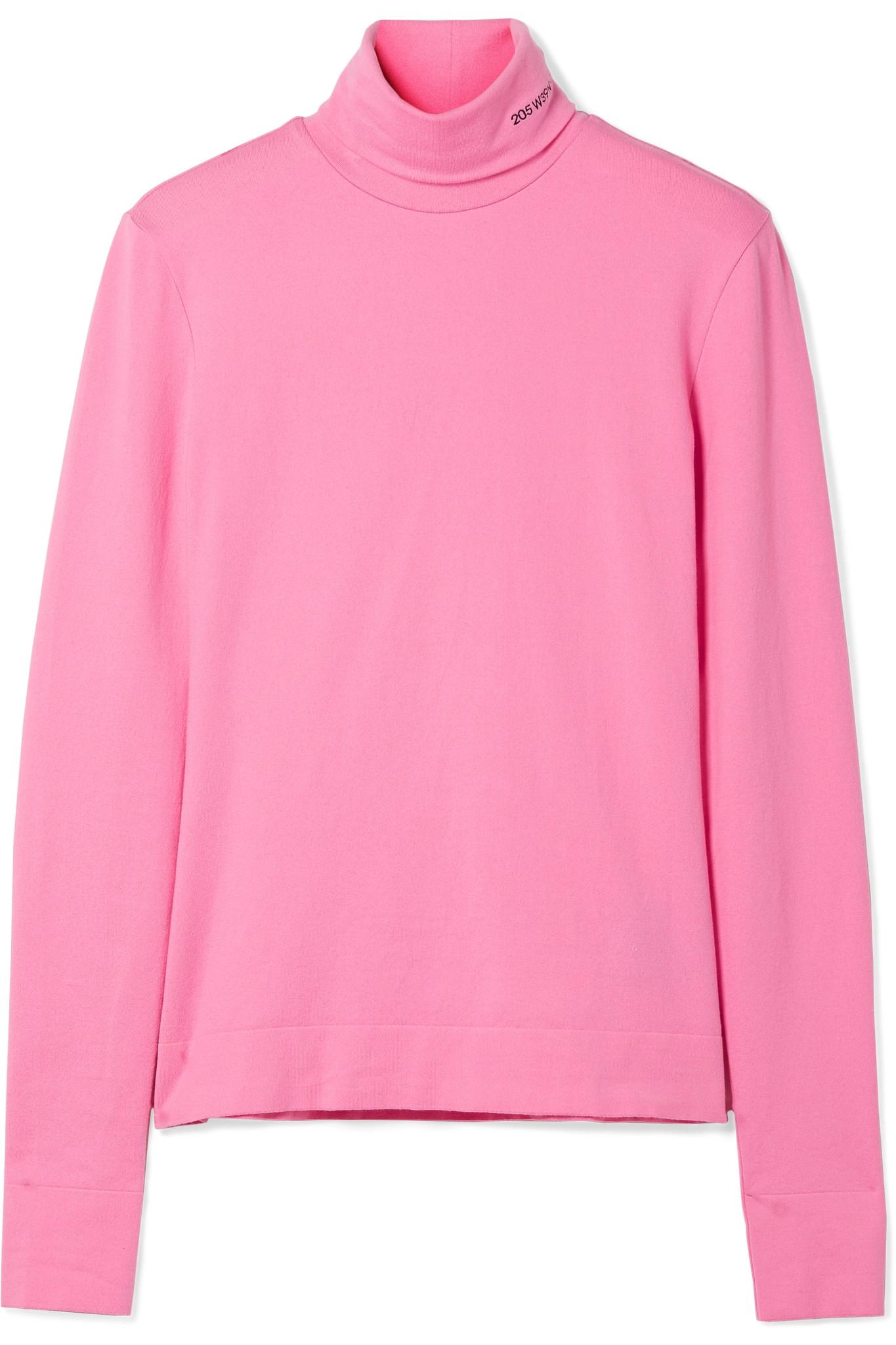 Embroidered Wool And Cotton-blend Sweater - Baby pink CALVIN KLEIN 205W39NYC Clearance Marketable Discount Wiki For Cheap Online Really Cheap yHiLWECtf