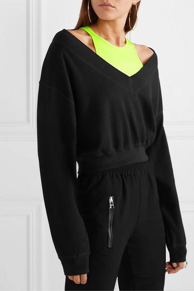 Sweat Raccourci En Jersey Stretch Jean T By Alexander Wang en coloris Noir