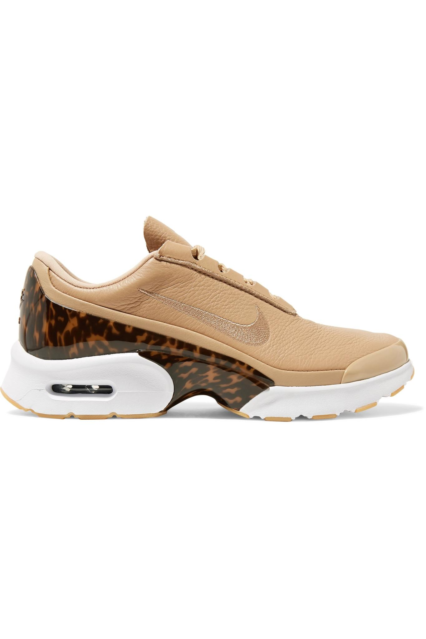 Air Max Jewell leather trimmed mesh and plastic sneakers