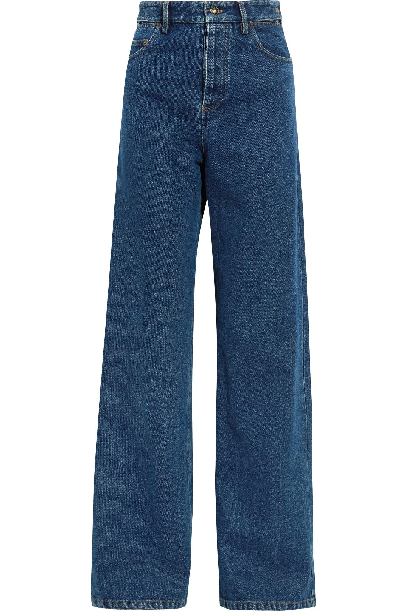 Lyst - Y. Project Cutout High-rise Wide-leg Jeans in Blue