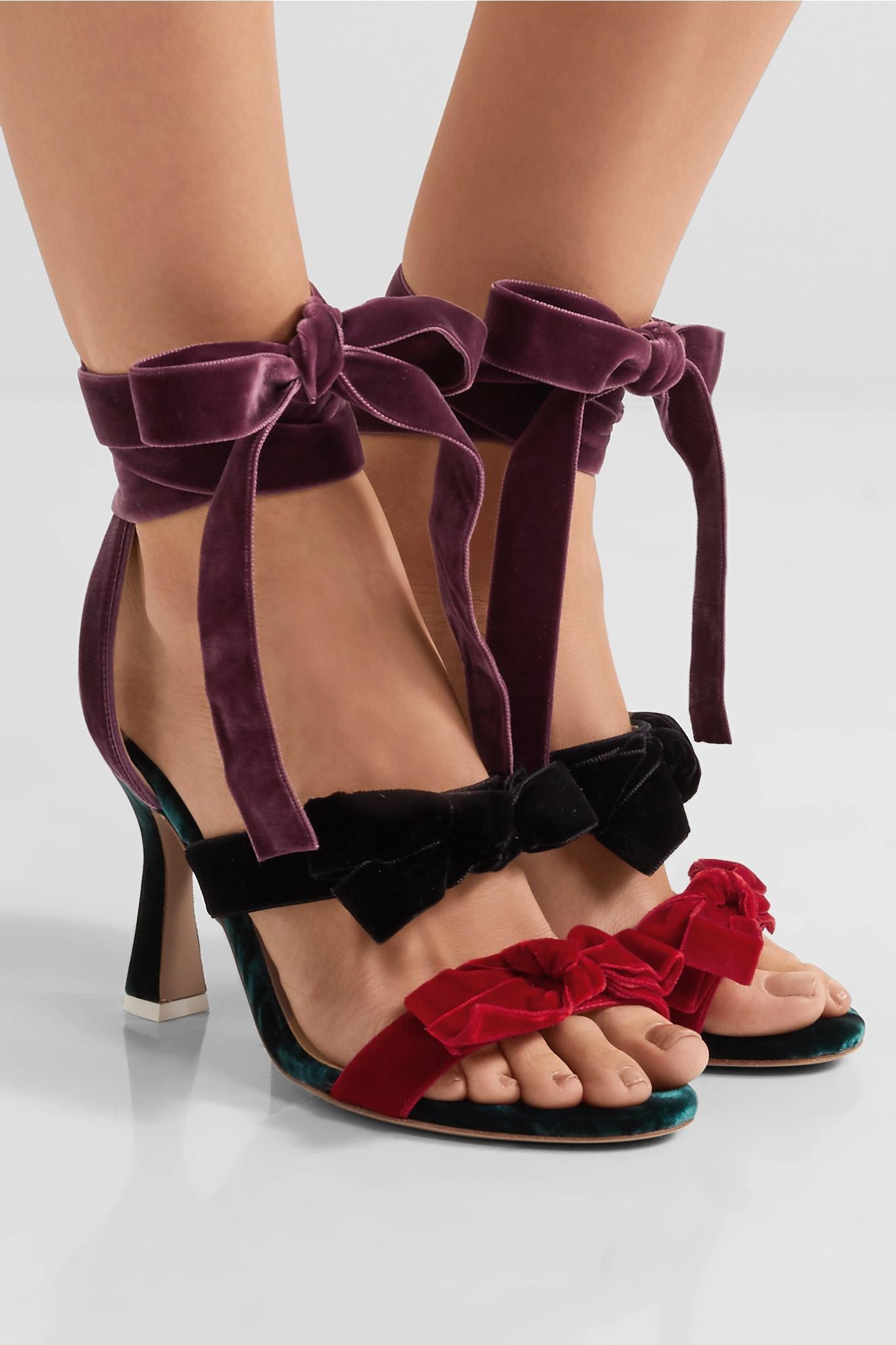 ATTICO Velvet Diletta Sandals in . nJ1fEwJ6P4