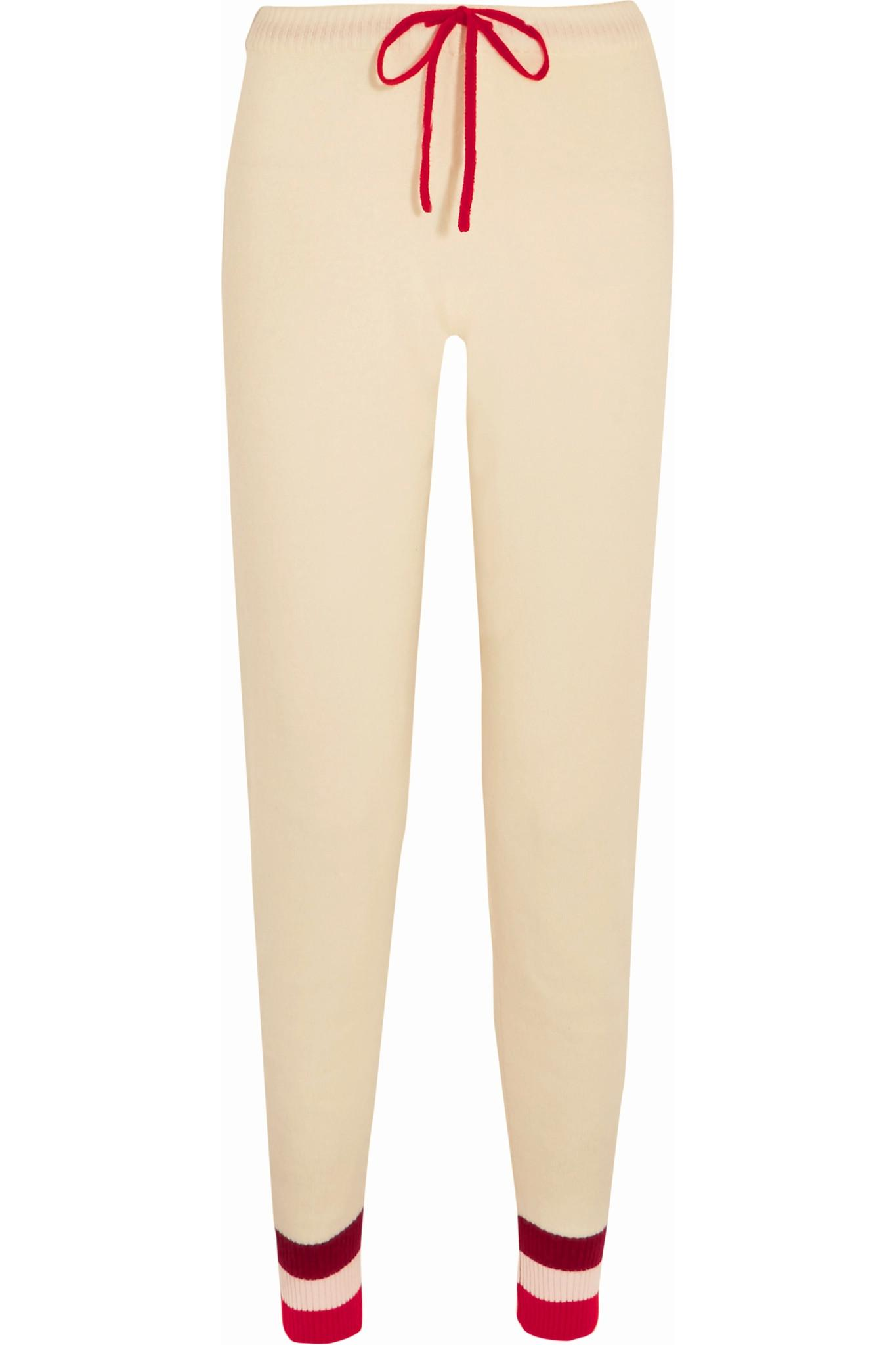 Madeleine thompson Eshon Striped Cashmere Track Pants in ...